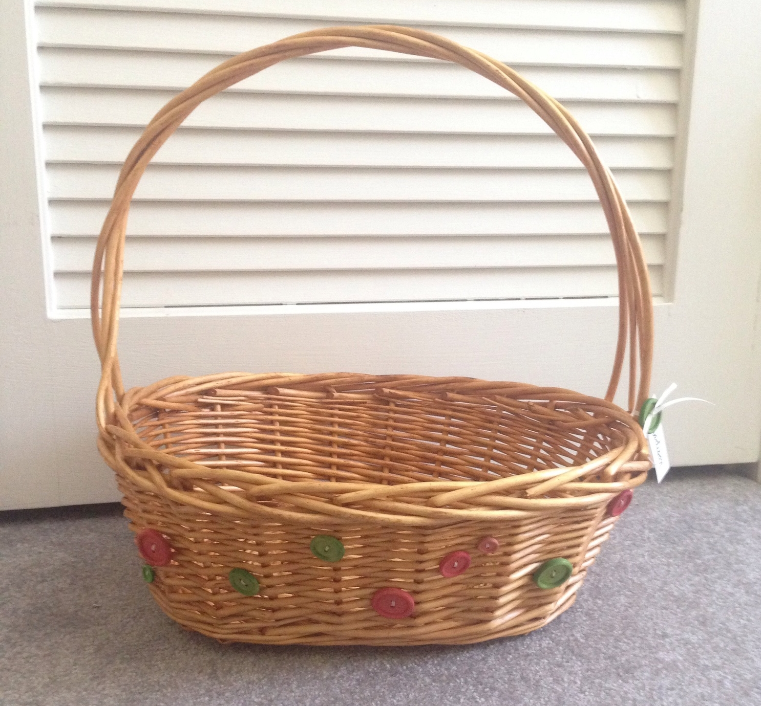 DIY Button Easter Basket
