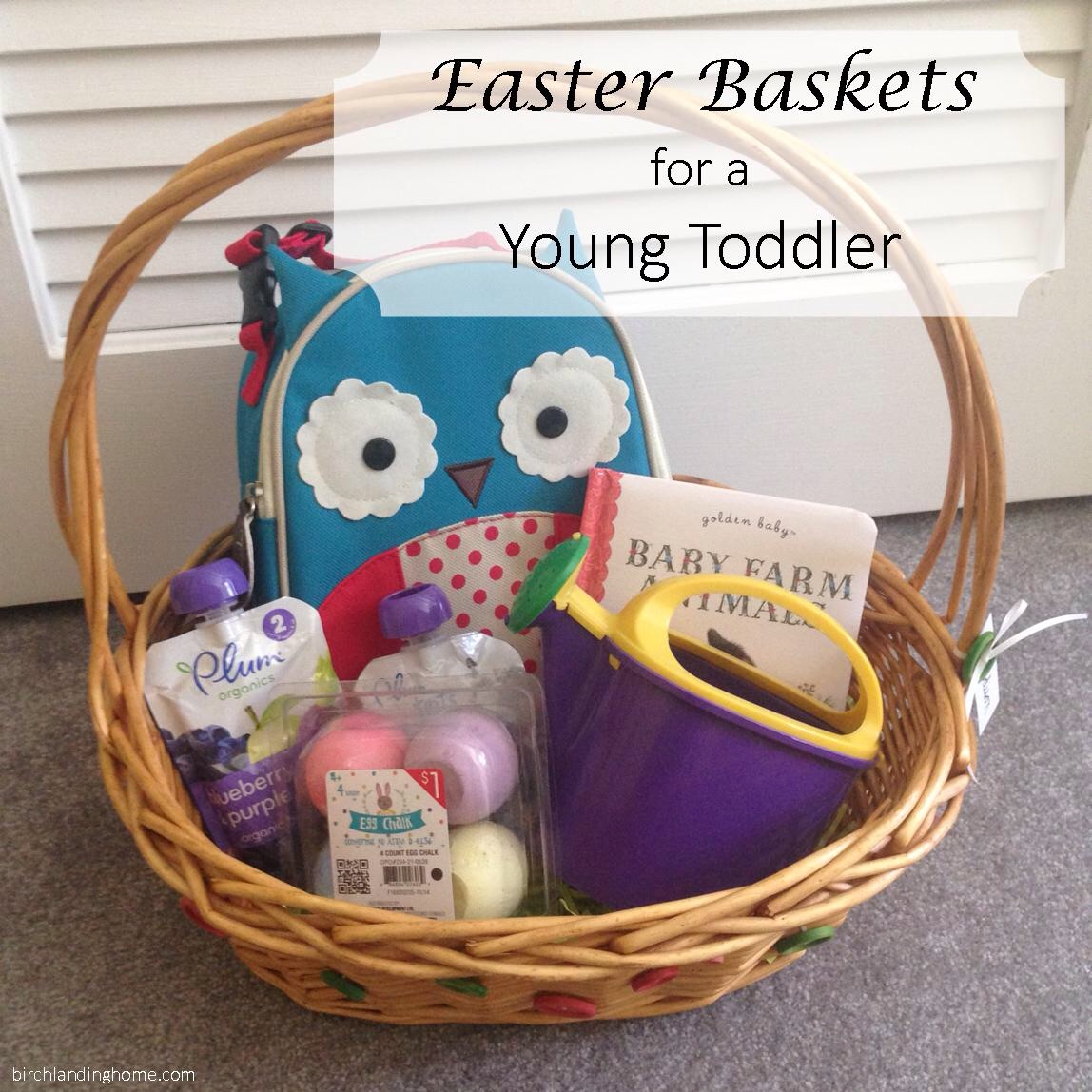 Inexpensive Easter Basket Ideas for a Young Toddler