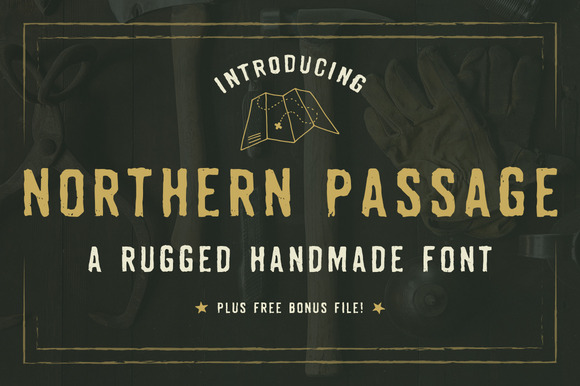 Northern Passage Hand-Crafted Font available from Creative Market