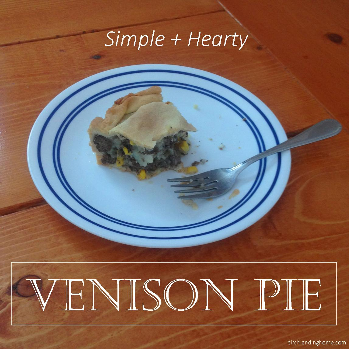 Simple and Hearty Venison Pie Recipe