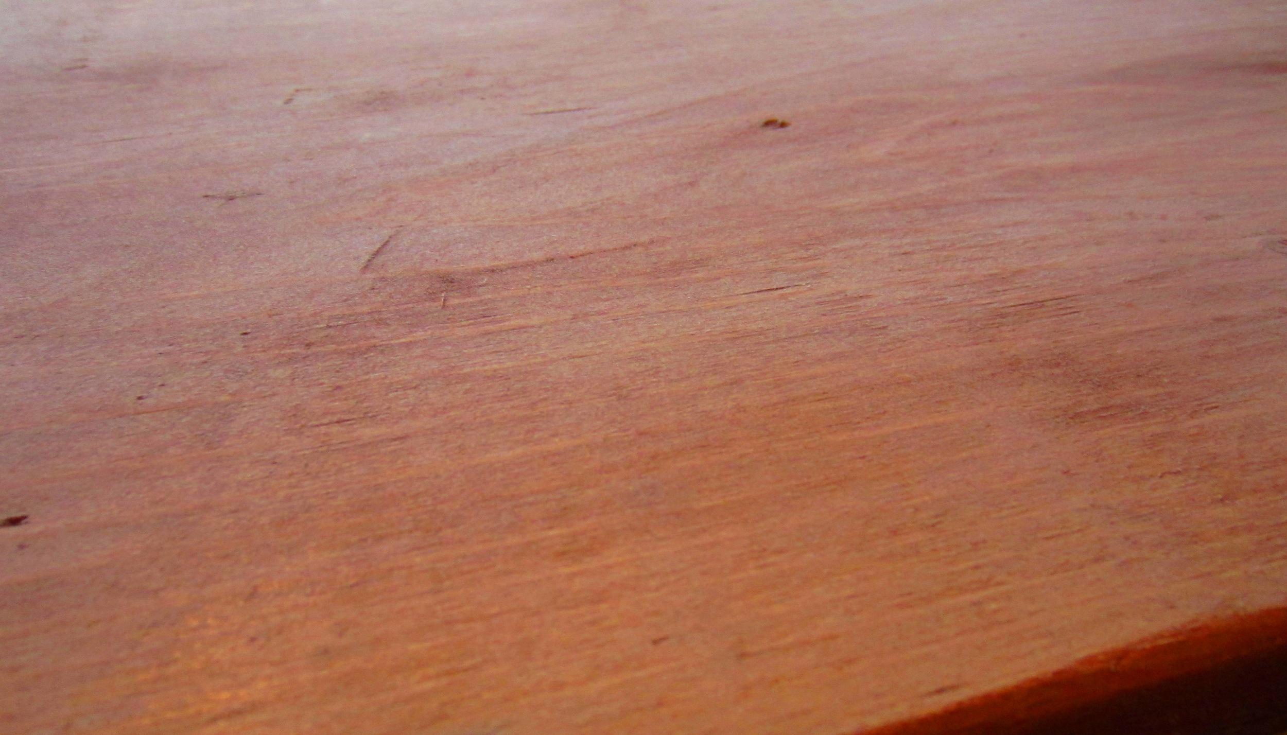 After using steel wool and vinegar stain.  DIY tutorial.