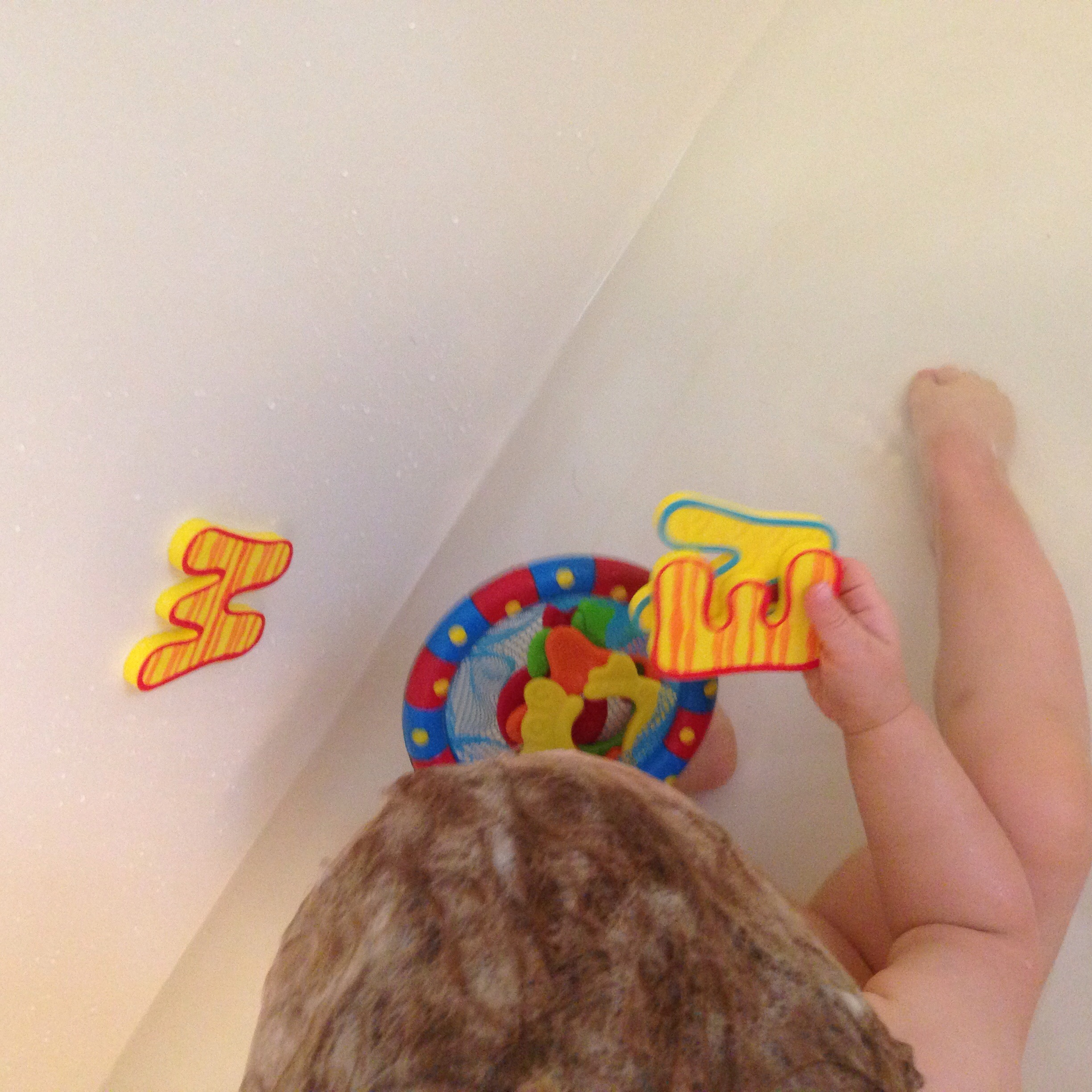 The Nuby Splash n' Catch can be used with other bath toys too.