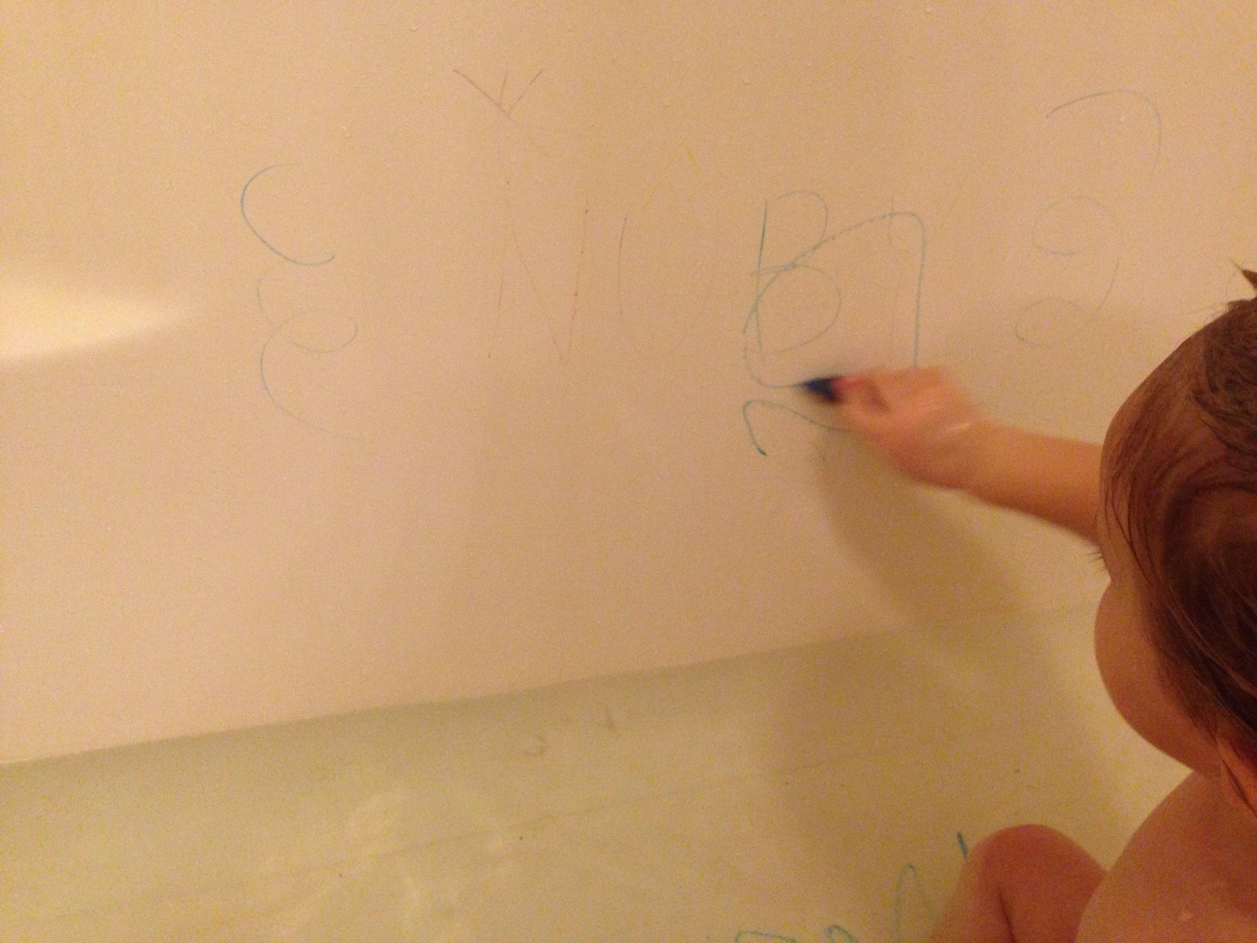 Nuby bath crayons - lots of fun!