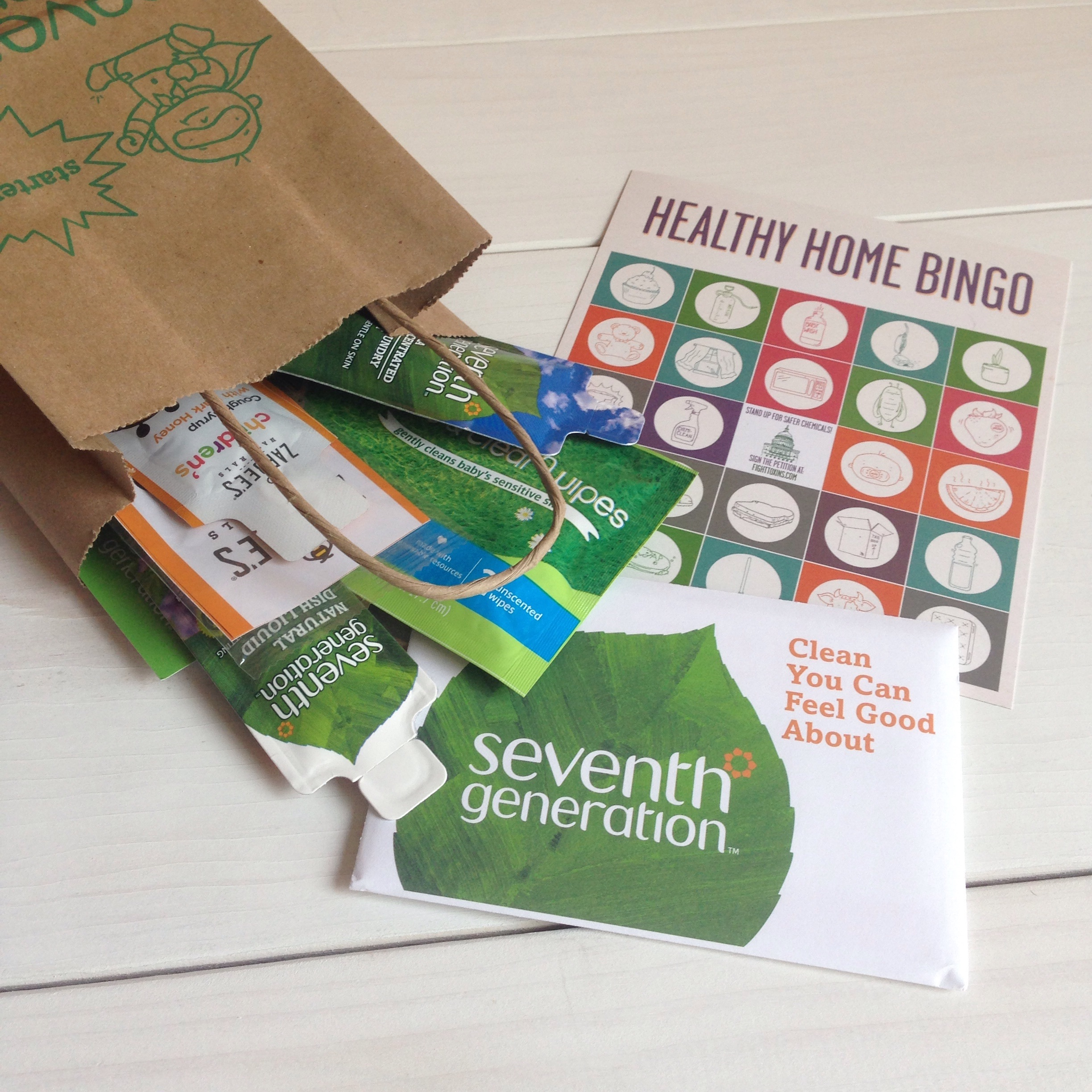 Product samples and coupons from:    Seventh Generation  ,   Zarbee's Naturals  , and   Bobble  .