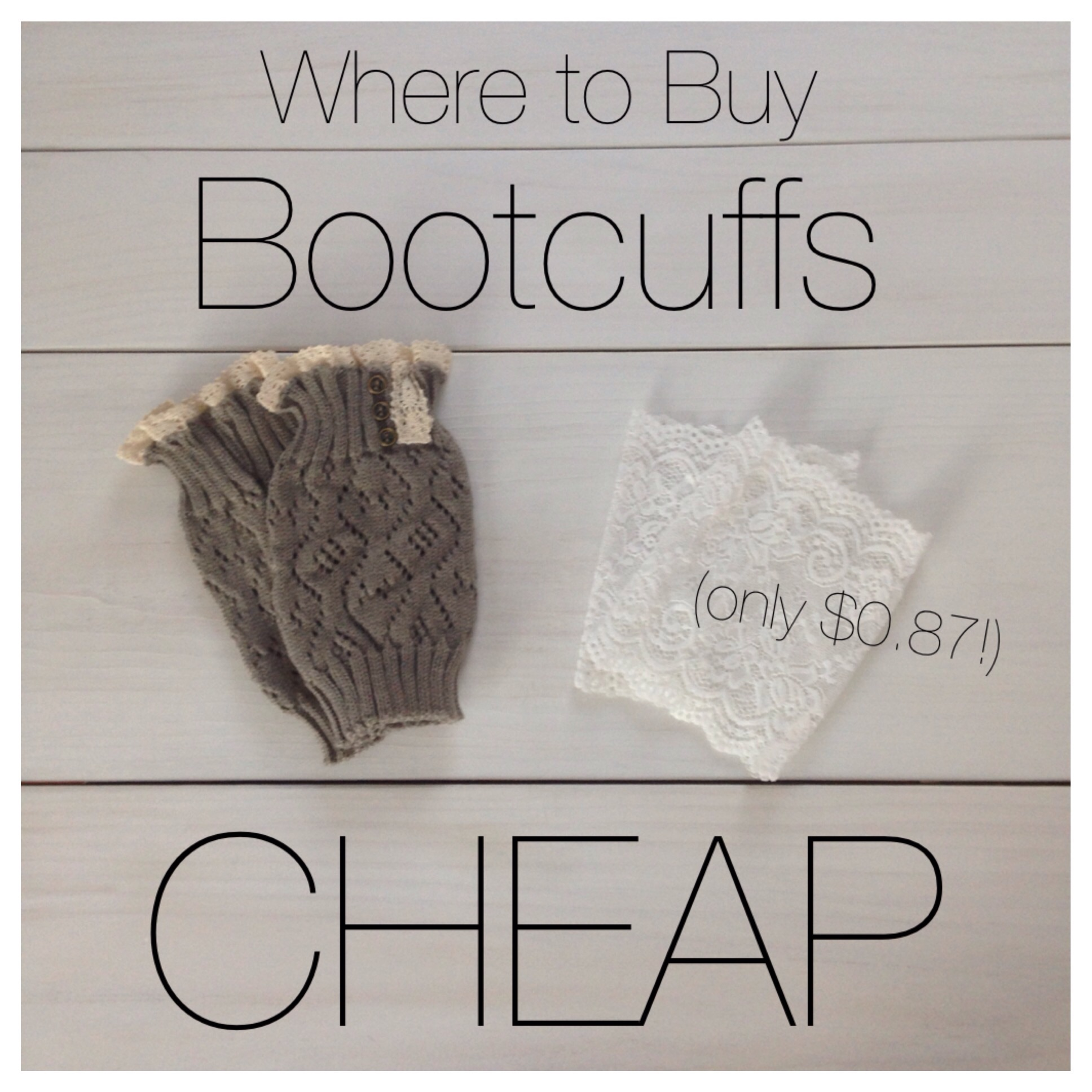 Where to buy fashionable boot cuffs cheap!