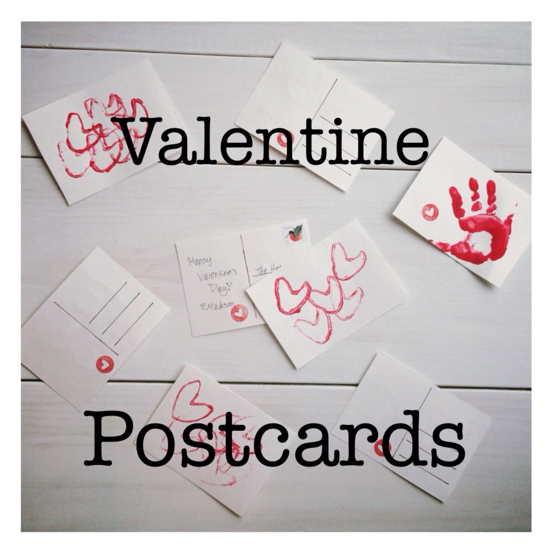 Valentine DIY postcard