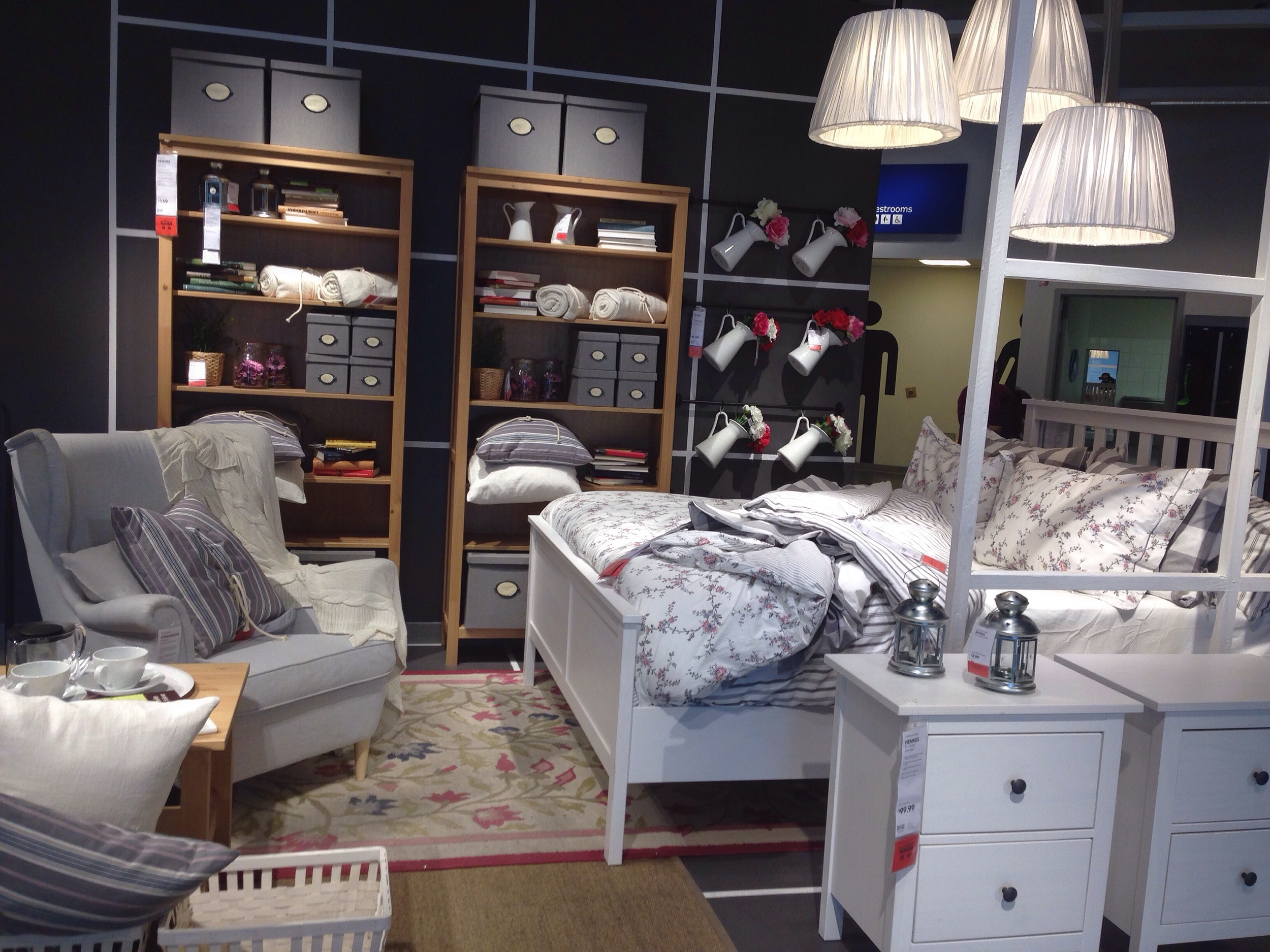 First trip to IKEA - loved the Hemnes line and farmhouse-inspired accessories