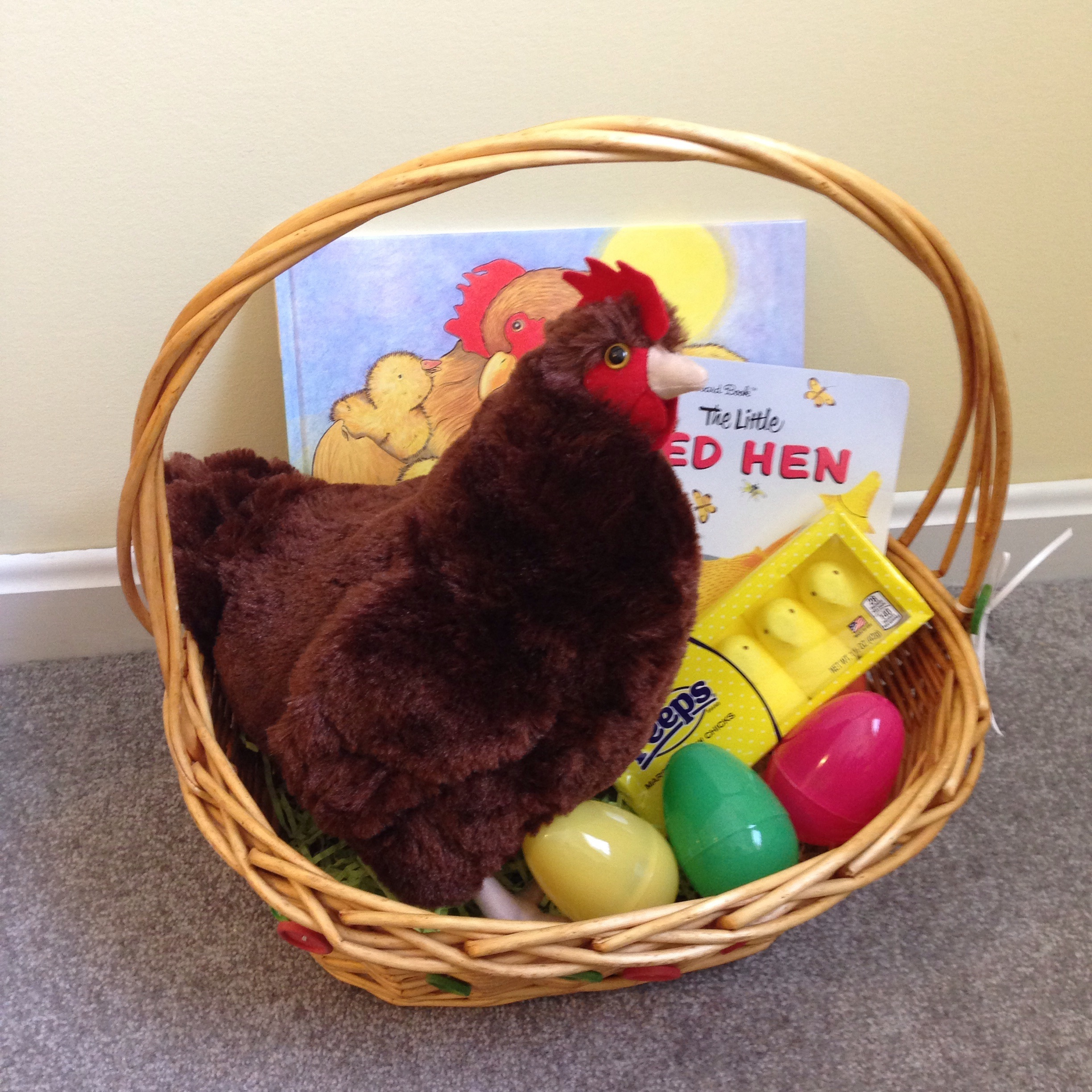 A fun toddler Easter basket theme - chickens!