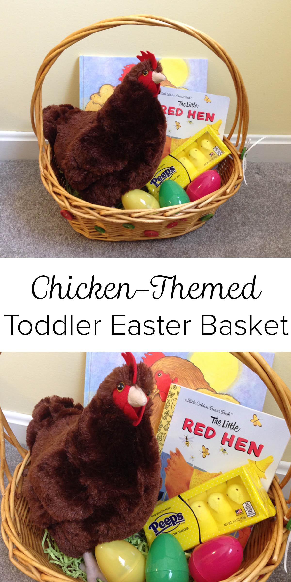 Chicken-Themed Toddler Easter Basket