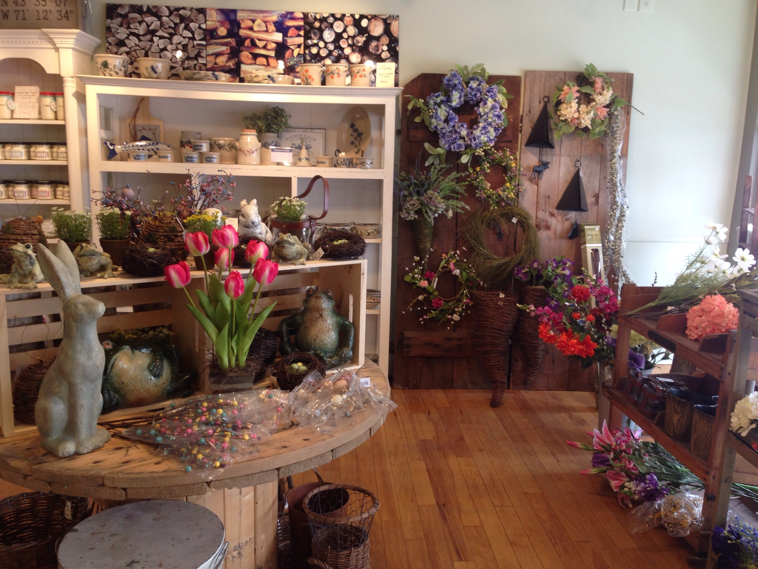Beautiful spring items at The Straw Cellar in Wolfeboro, NH.