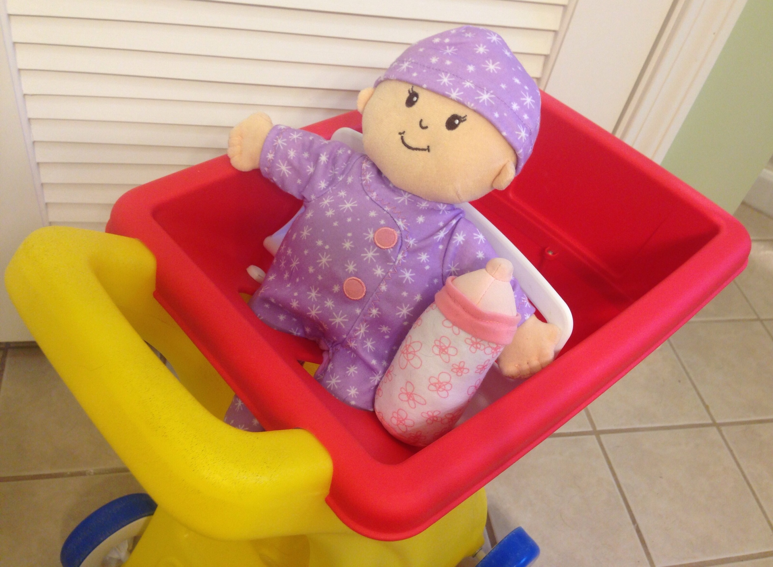We purchased this great   Baby Stella Doll   from Amazon, but Pampers has a similar one as a Reward as well!