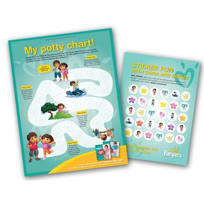 FREE Potty Training Chart from Pampers Rewards!