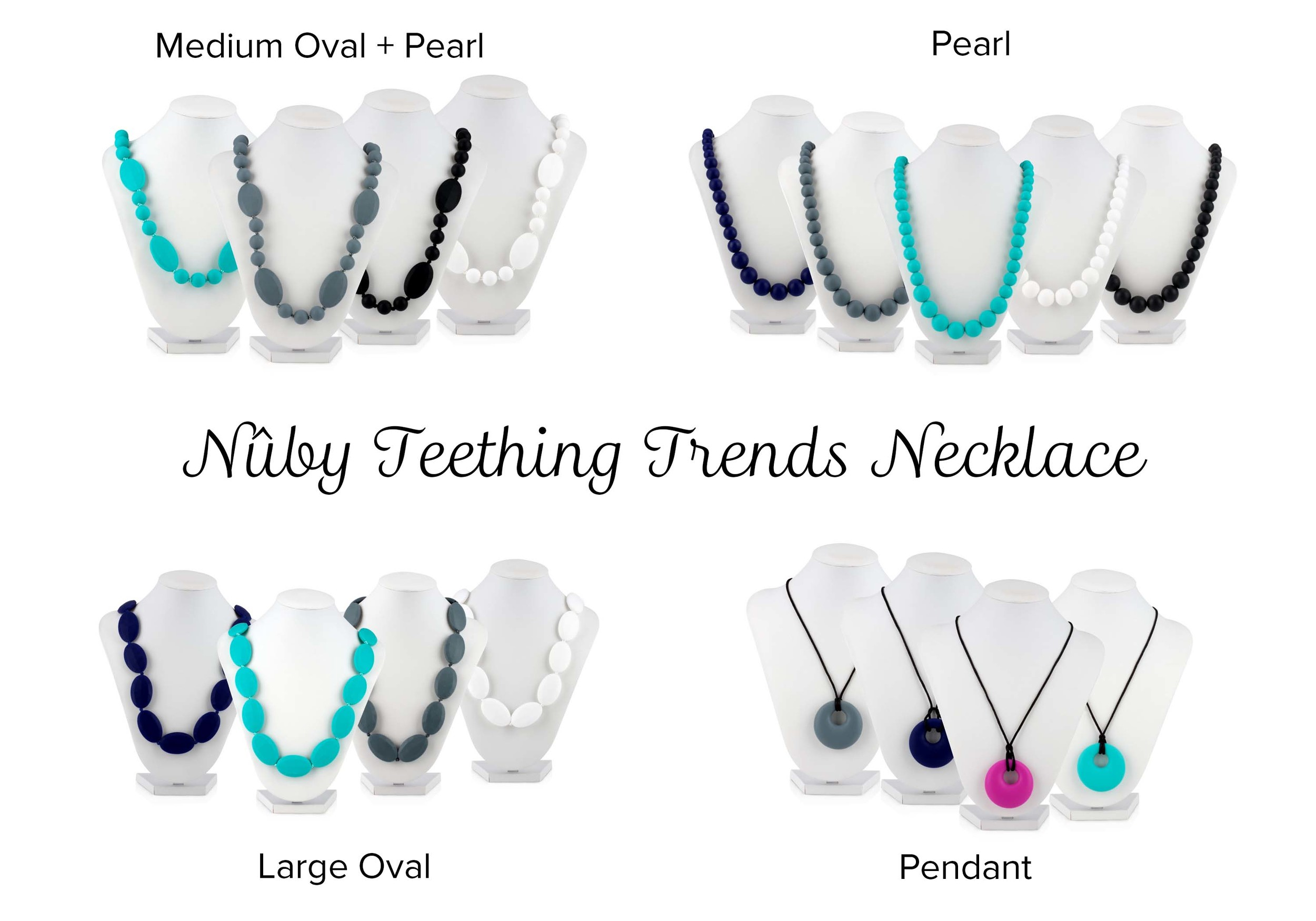 Nuby Teething Trends Giveaway - winner will receive one necklace of their choice!