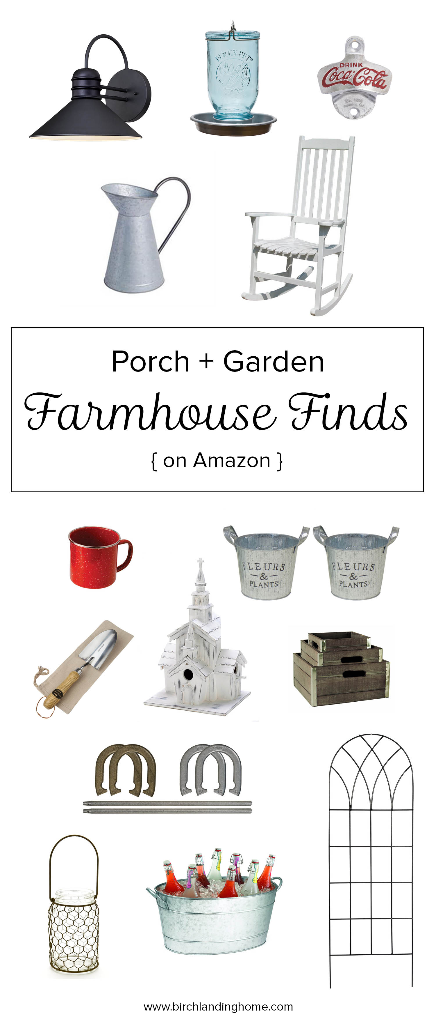 Farmhouse Fixer Upper Finds for your Porch and Garden from Amazon