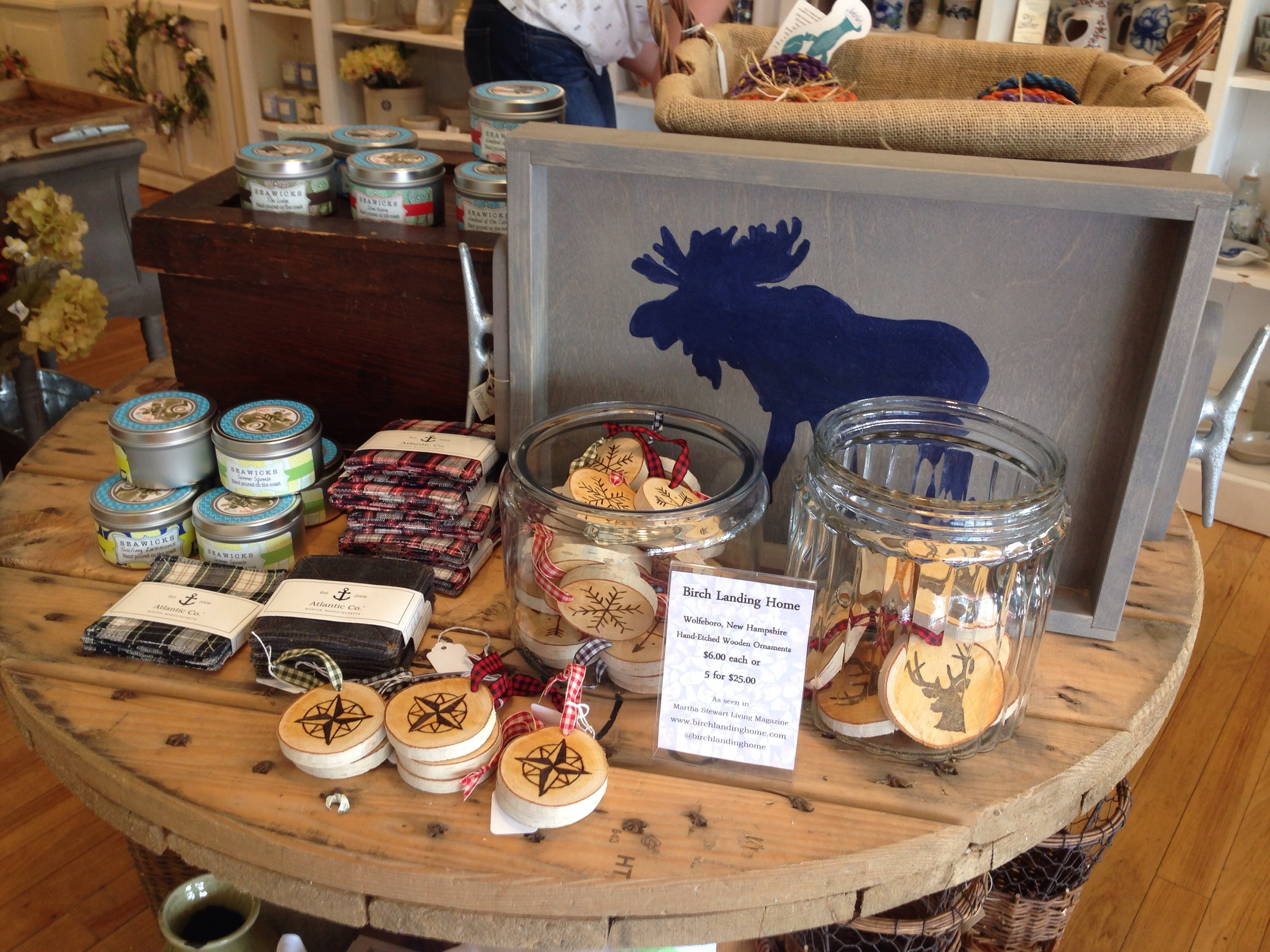 Some of the New England made products at Straw Cellar.