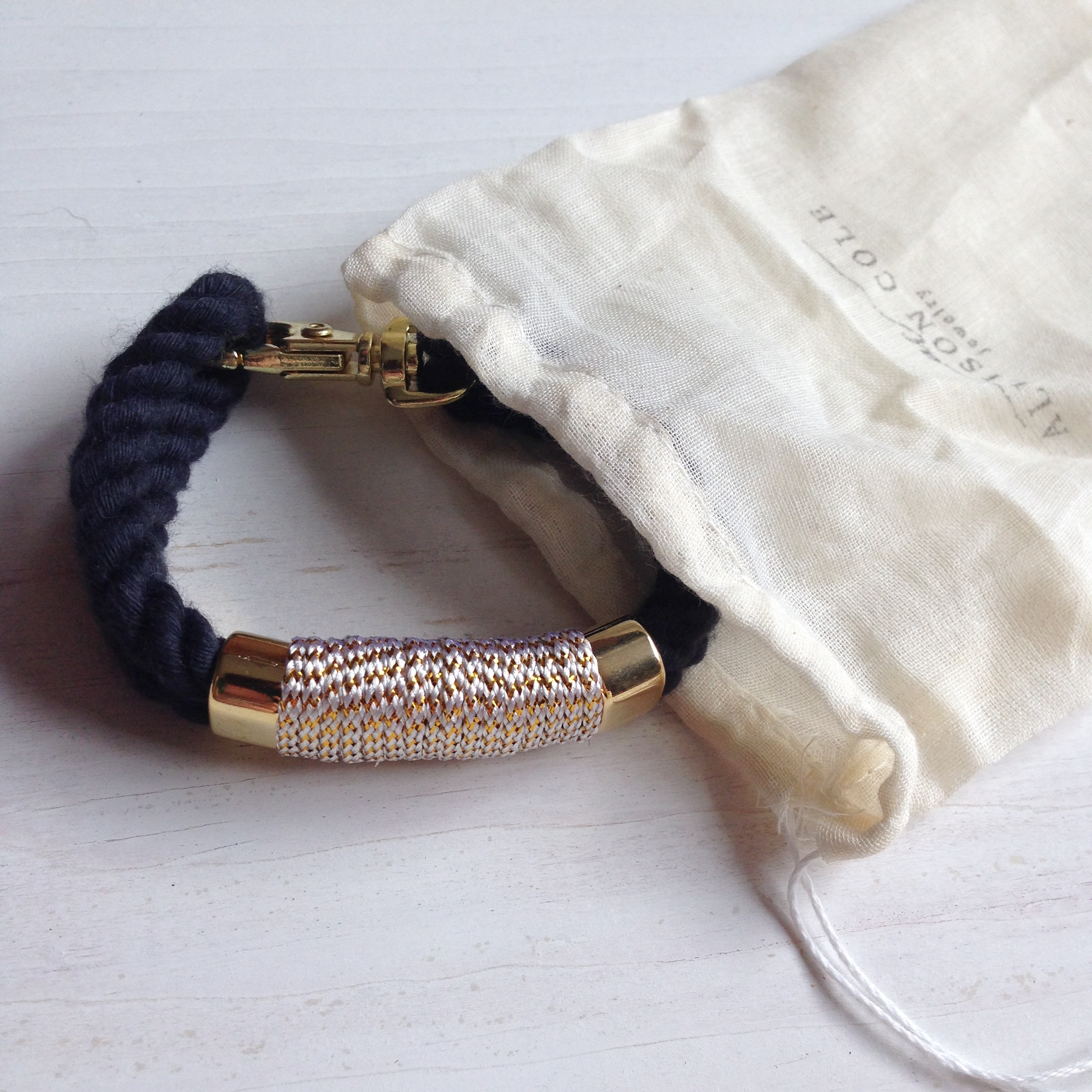Nautical style rope bracelets from Allison Cole Jewelry