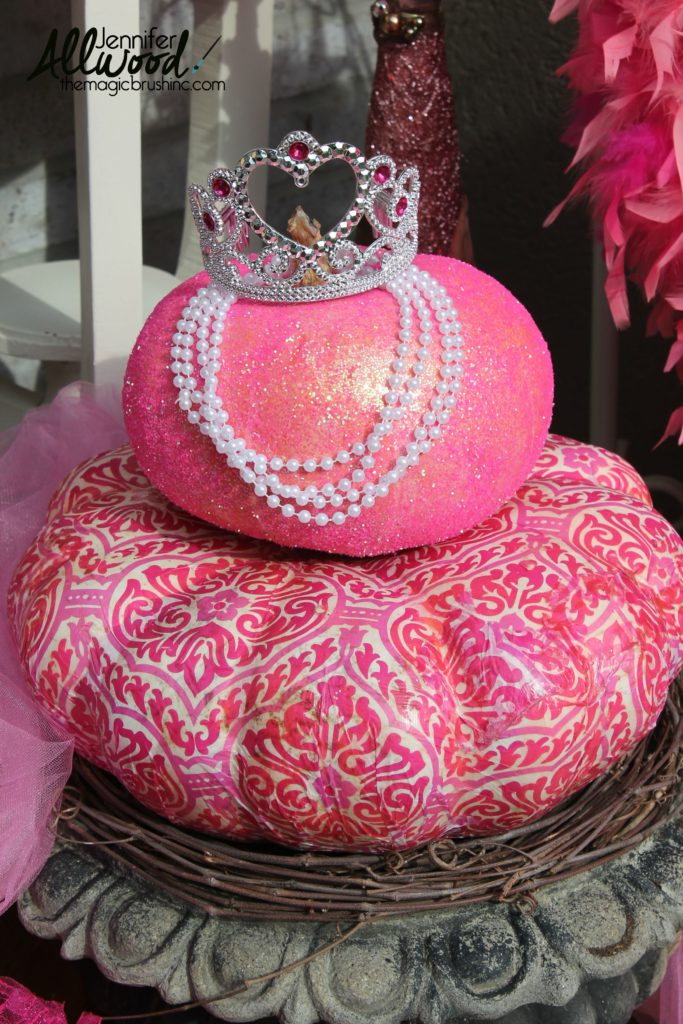 Pink Fall Decor for Breast Cancer Awareness Month