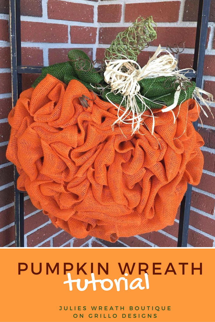 Pumpkin Wreath Tutorial with Burlap