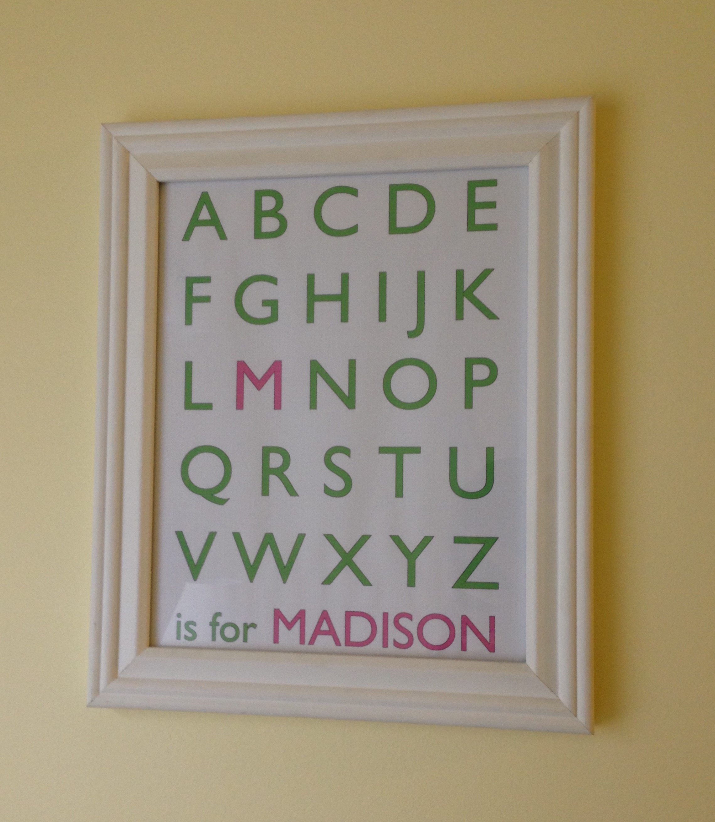 Custom alphabet name printable by Birch Landing Home