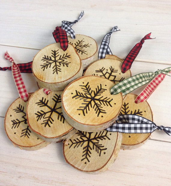 Birch Snowflake Ornaments by Birch Landing Home as seen in NH Magazine's Yankee Swap Guide