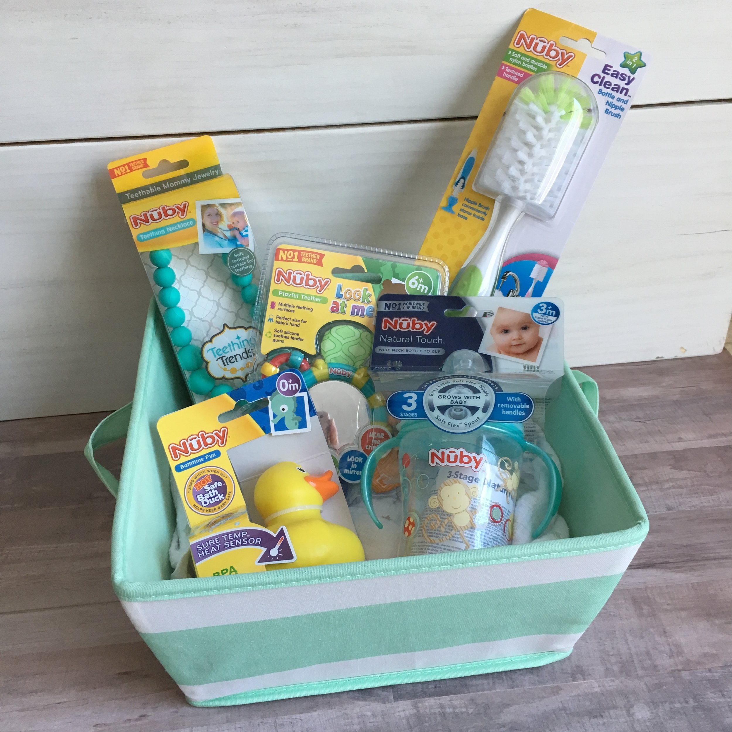 Affordable Baby Shower Gift Basket with Nuby