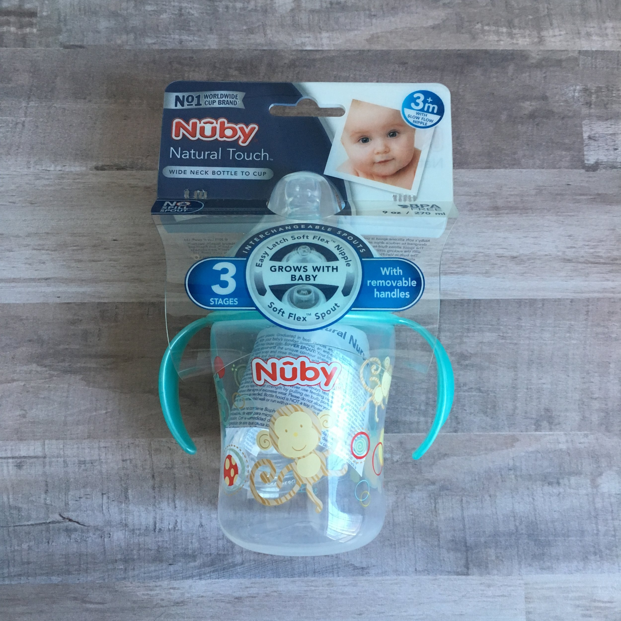 Affordable Baby Shower Gift Basket with Nuby - Convertible Bottle to Sippy Cup