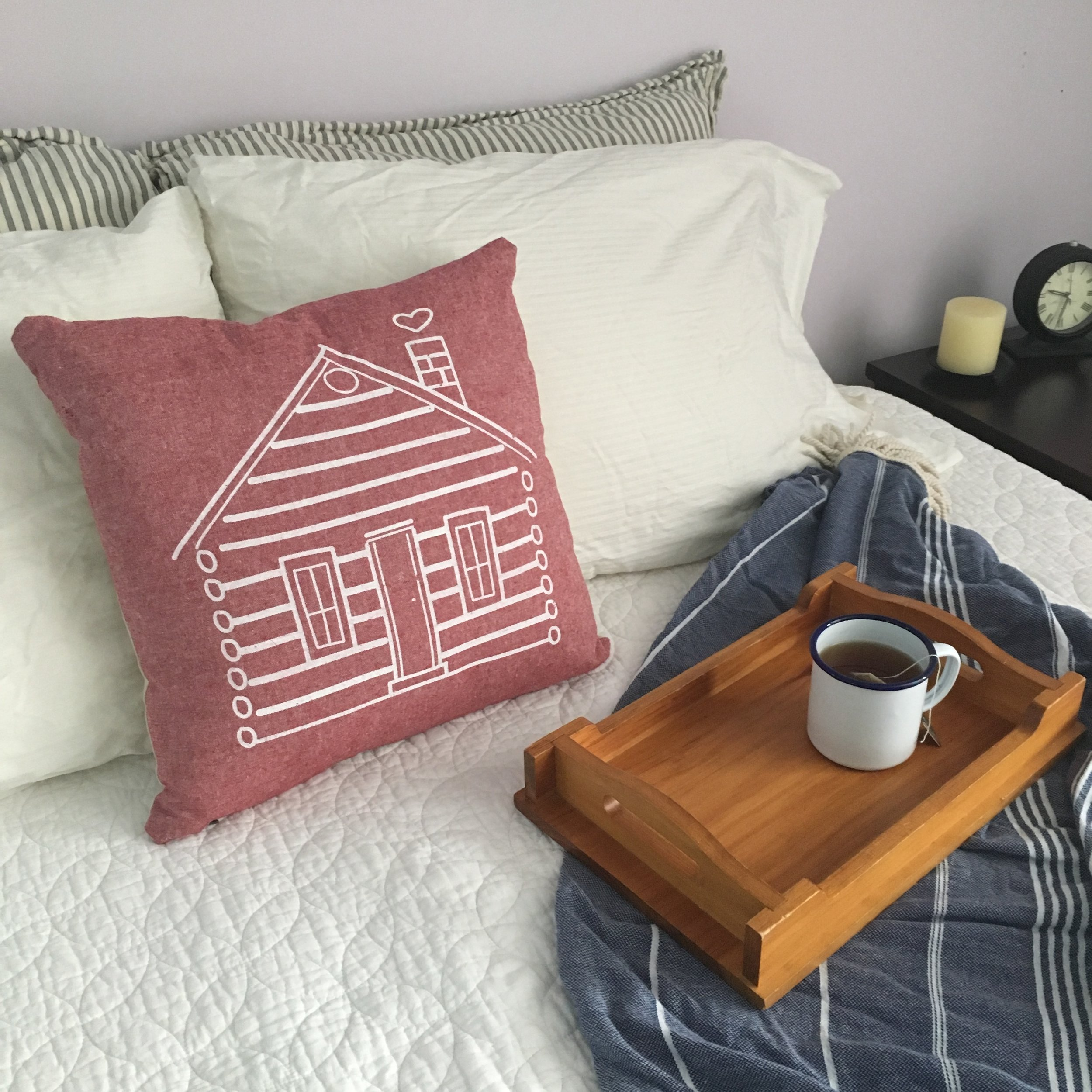 Hills & Trails Pillow is perfect for getting cozy with a cup of tea