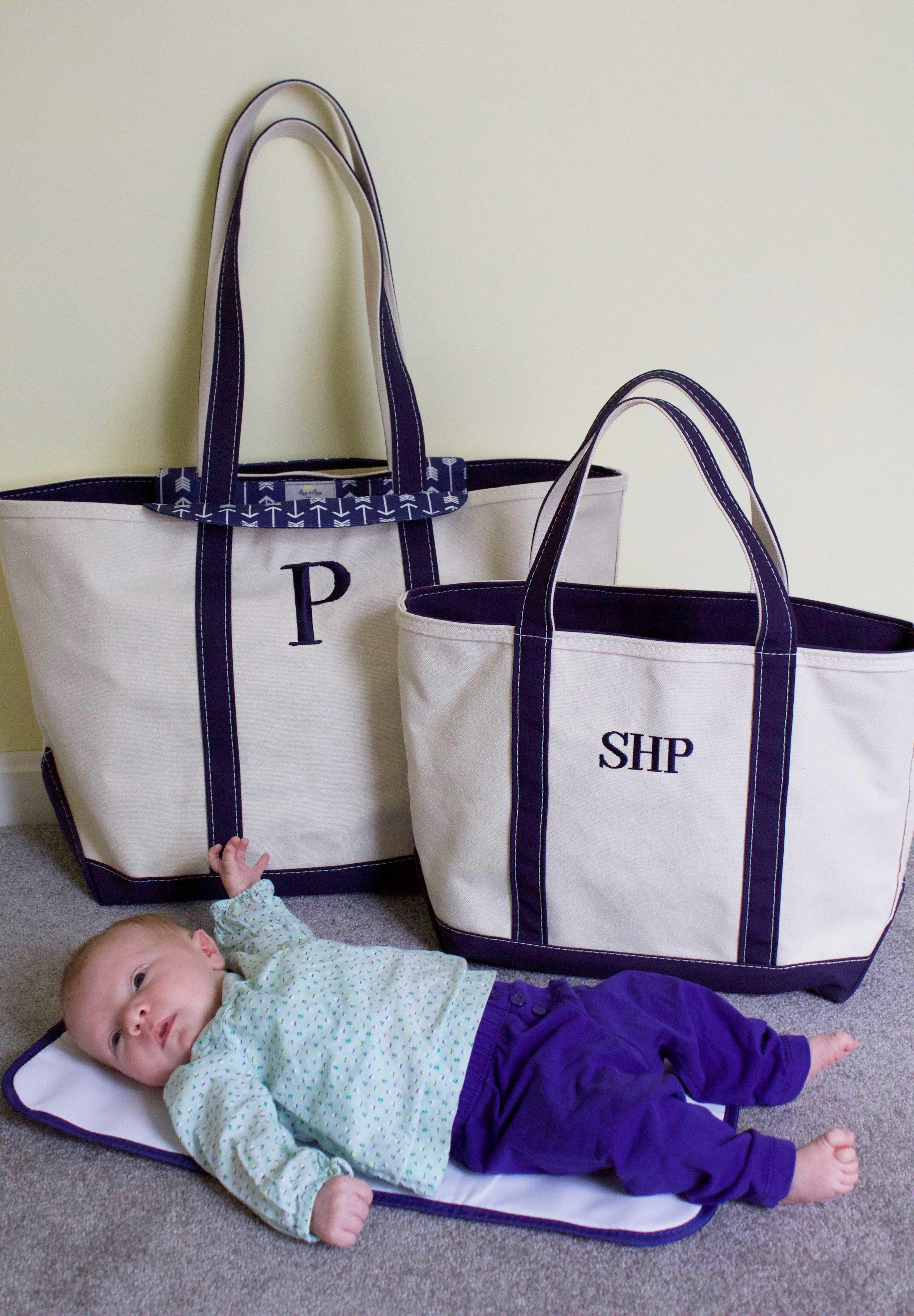 L.L. Bean Diaper Insert and Boat Tote Bags
