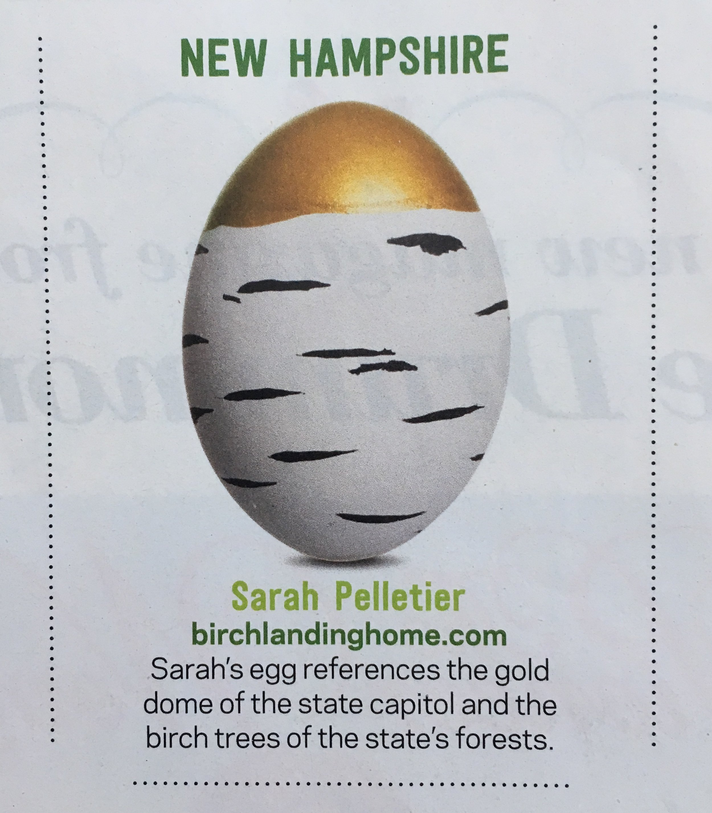 Birch Landing Home - as seen in Food Network Magazine!  New Hampshire-Inspired Easter Egg