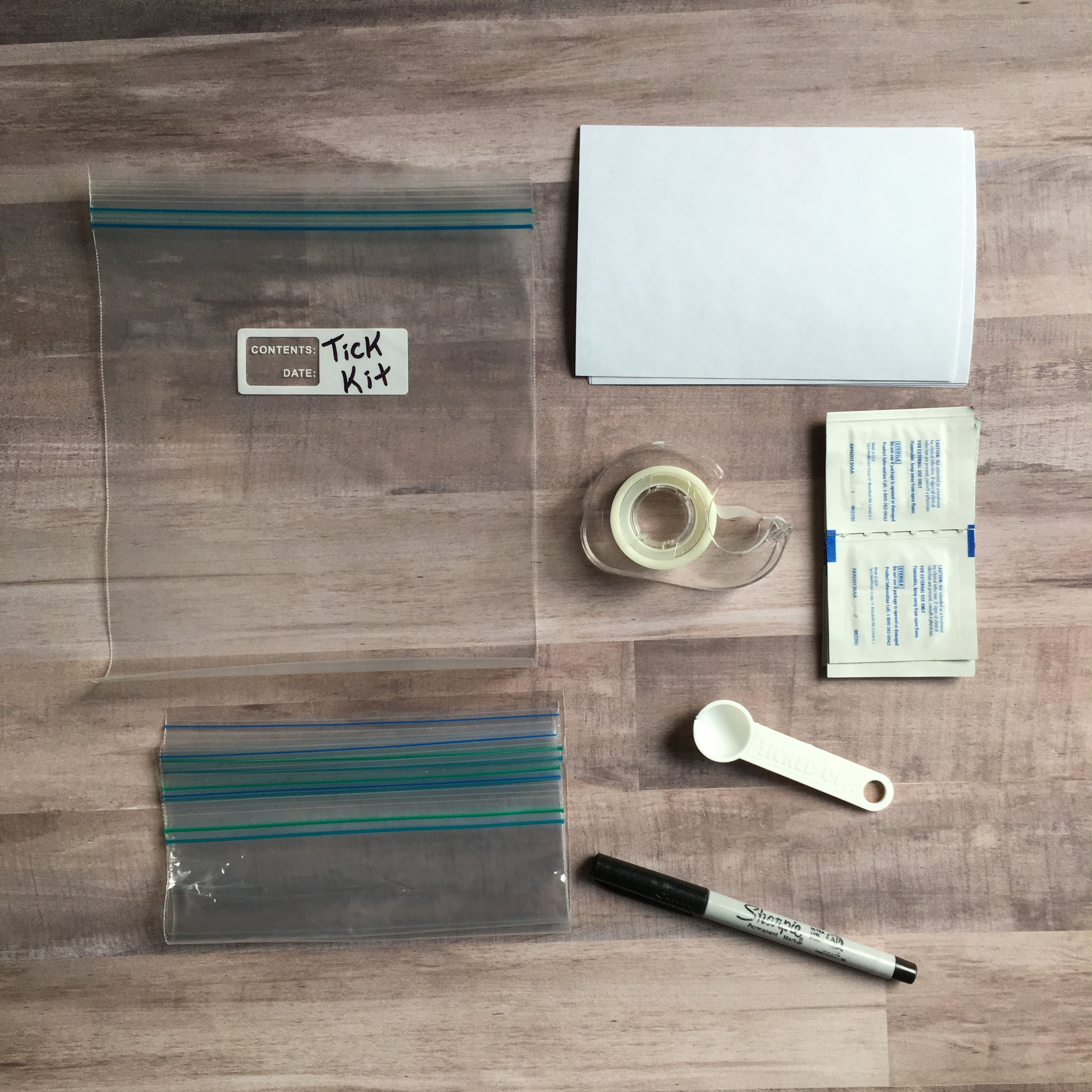 Items for a Tick Kit