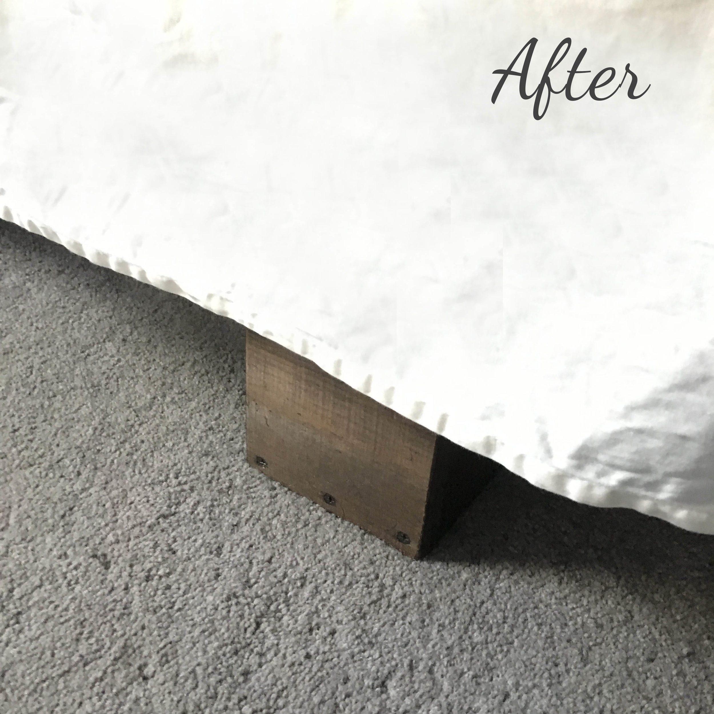 DIY Bed Risers - After!