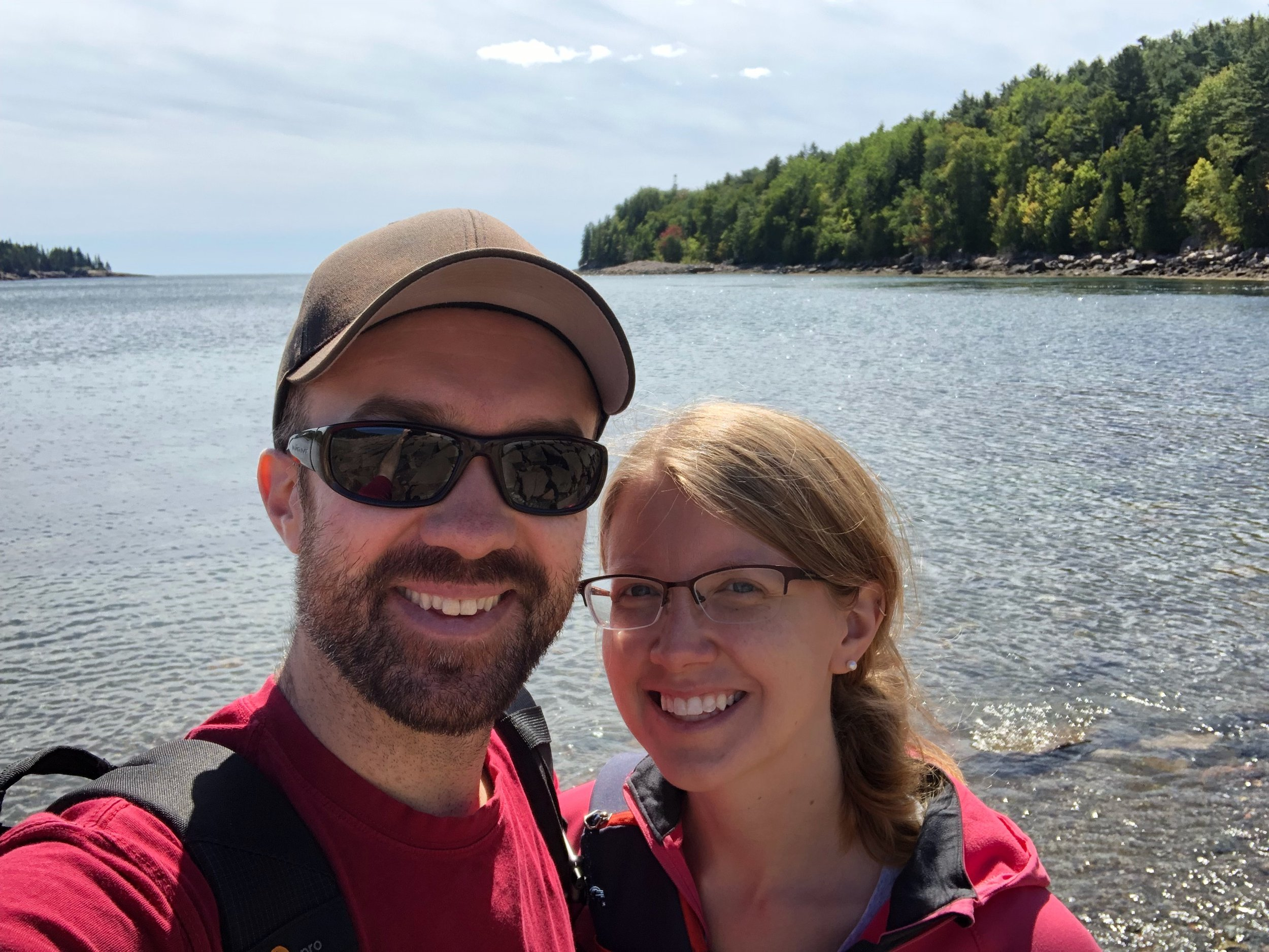 Happy Anniversary!  At Otter Cove, Acadia National Park