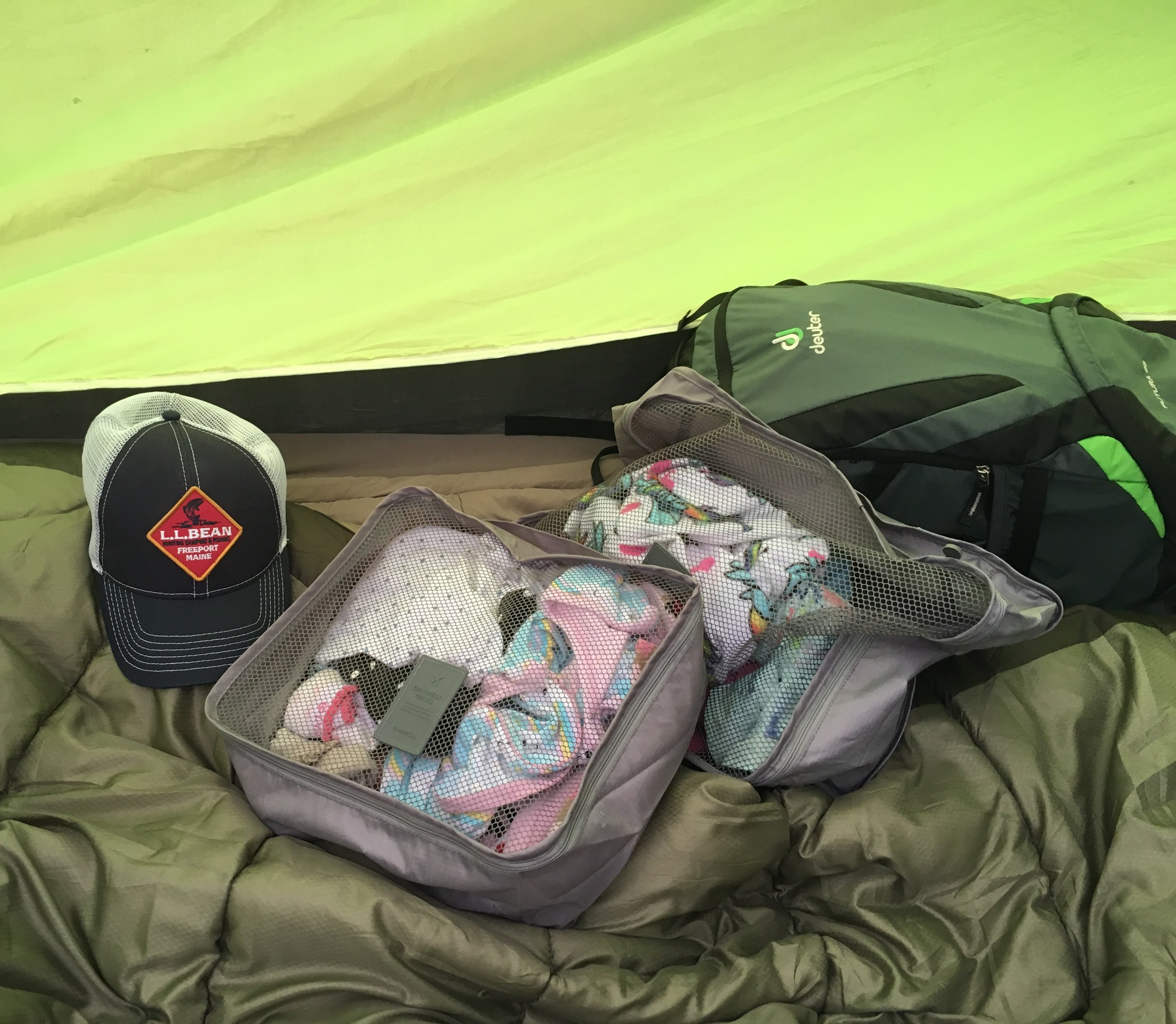 Camping with Kids Pro Tip:  Use packing cubes to keep everyone's clothes organized and easy to find.