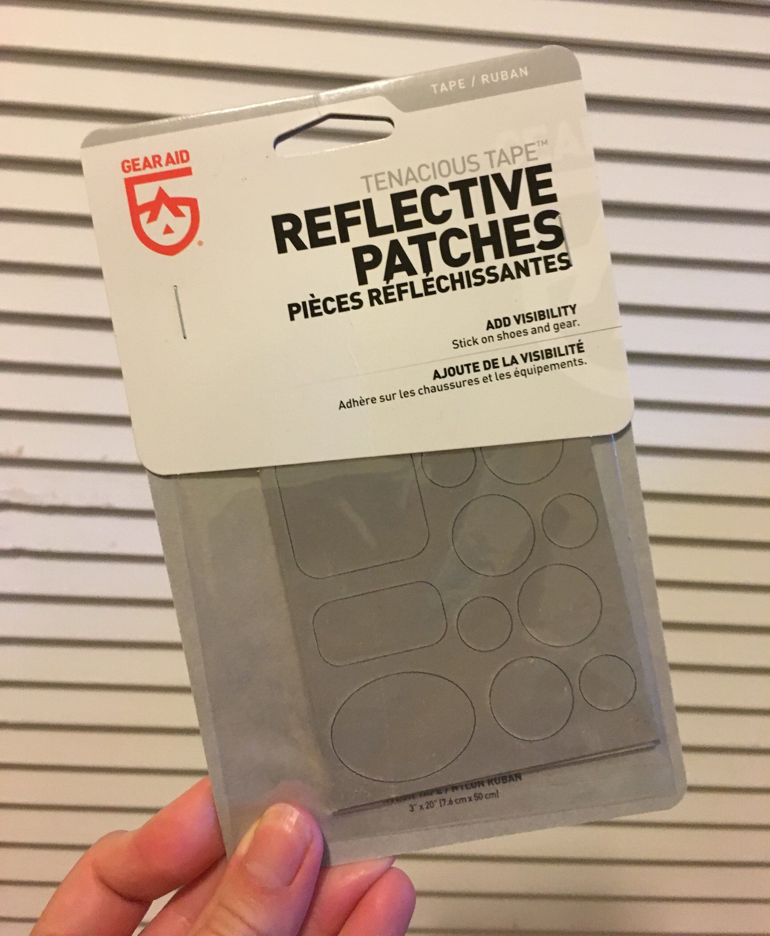 Favorite Find:  Reflective Stickers for Gear and Fabric