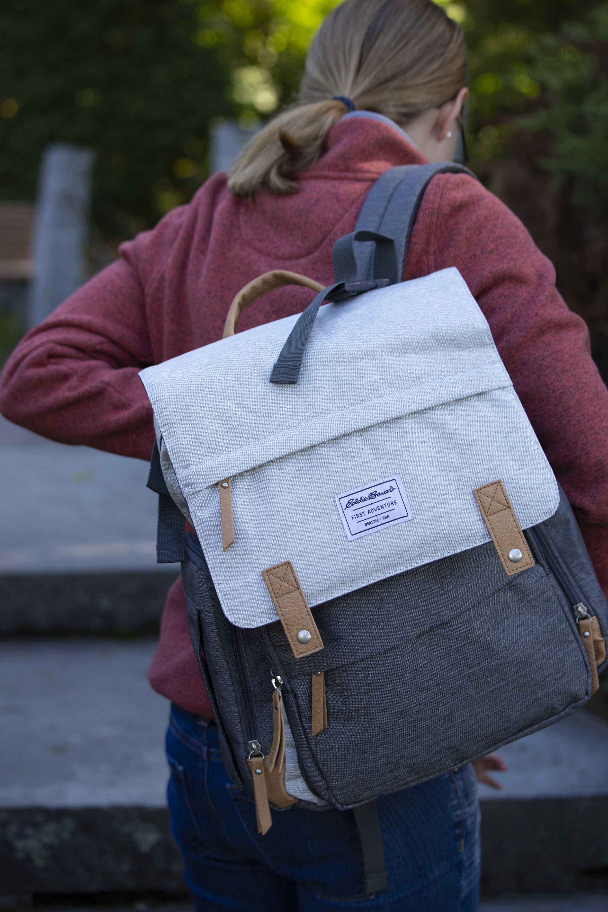 Out and About with the Eddie Bauer Cascade Diaper Backpack