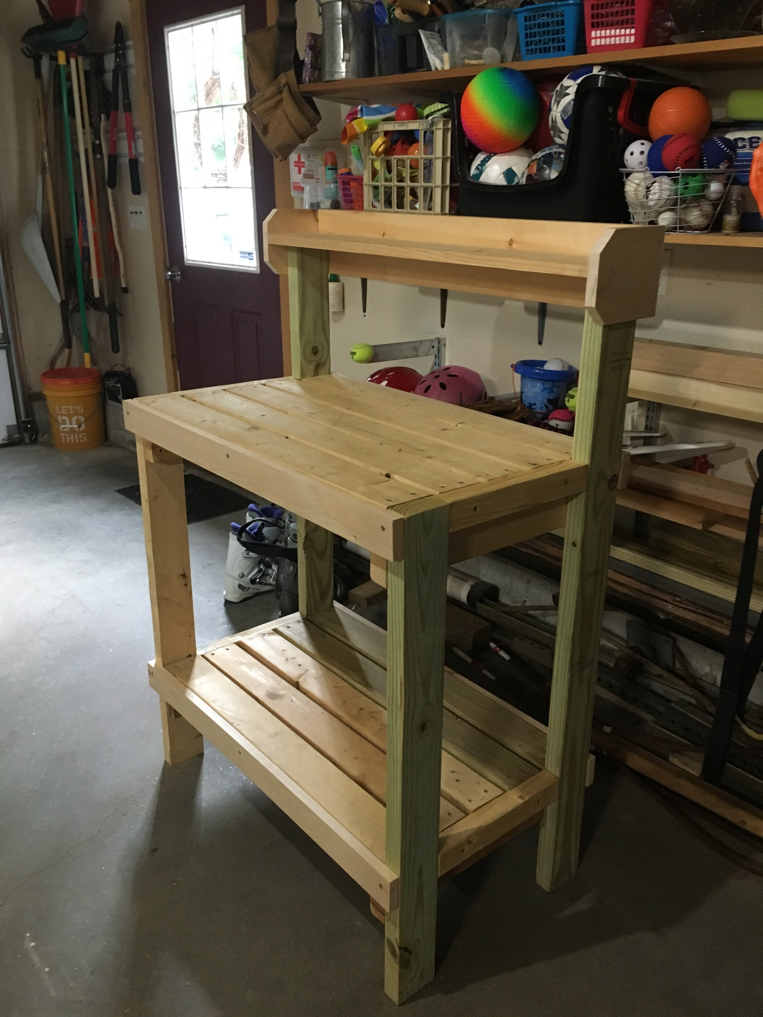 DIY Potting Bench - Based on Plans by Ana White