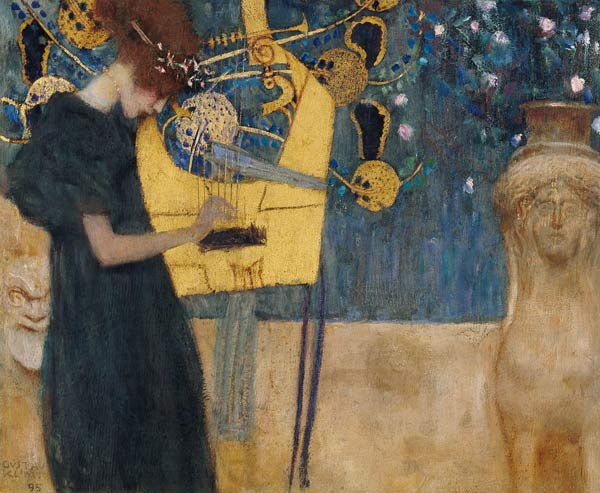 """""""What music resurrects in the soul of a man about to die is neither hope nor thought, but simply the blind, heart-breaking miracle of life itself.""""   Vasily Grossman,  Life and Fate   (Gustav Klimt's  The Music )"""