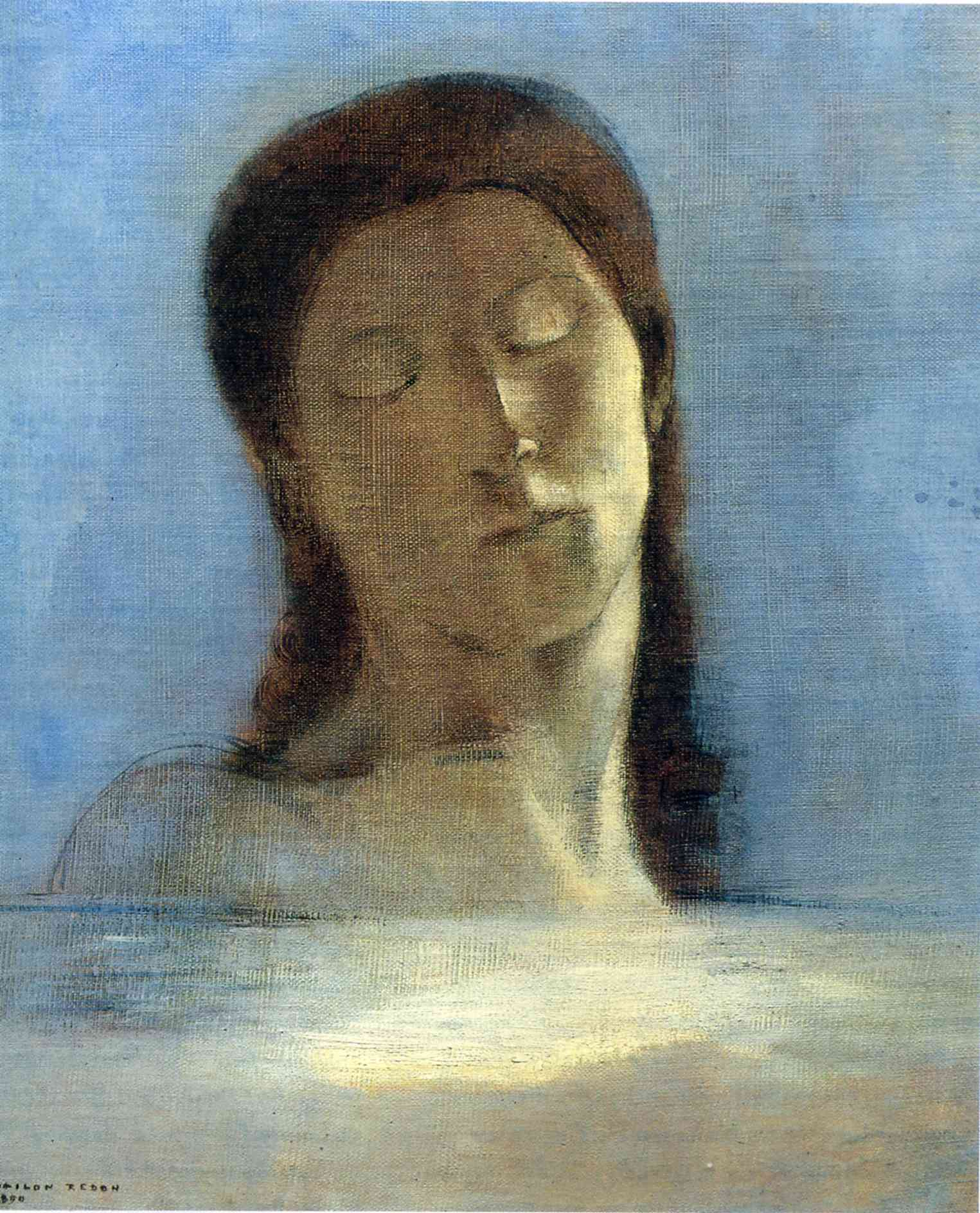 """Empathy isn't just listening, it's asking the questions whose answers need to be listened to. Empathy requires inquiry as much as imagination. Empathy requires knowing you know nothing. Empathy means acknowledging a horizon of context that extends perpetually beyond what you can see.""      Leslie Jamison,  The Empathy Exams     (Odilon Redon's  Closed Eyes )"