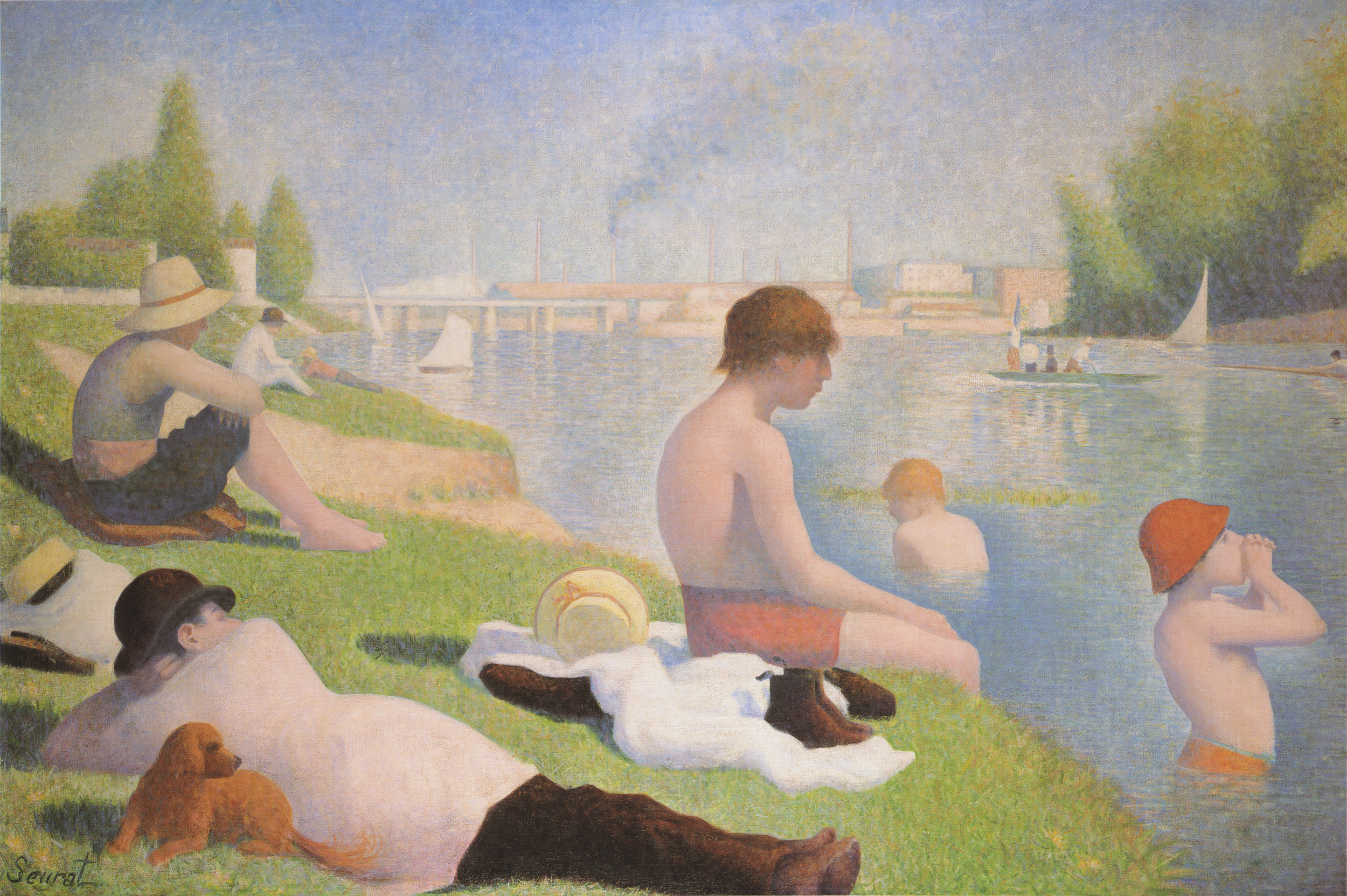 """Beauty is a miracle of things going together imperfectly. You have to keep taking the next necessary stitch, and the next one, and the next. Without stitches, you just have rags. And we are not rags.""   Anne Lamott,  Stitches: A Handbook on Meaning, Hope and Repair   (Georges Seurat's Bathers at Asnières)"