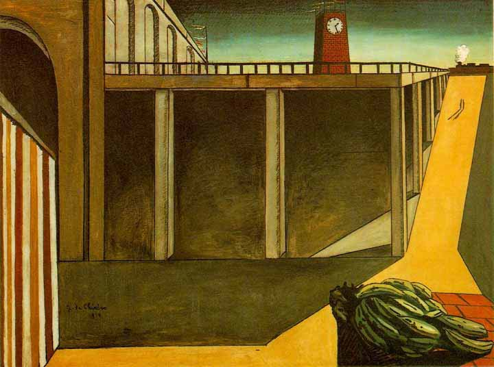 """Even if we are occupied with important things, even if we attain great honor or fall into misfortune, still let us remember how good it was once here when we were all together, united by a good and kind feeling, which made us better, perhaps, than we are.""   Fyodor Dostoevsky,  The Brothers Karamazov   (Giorgio de Chirico's  The Melancholy of Departure )"