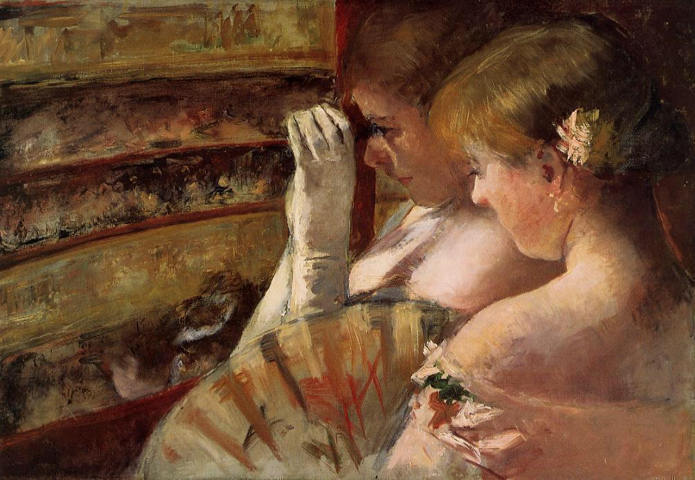 """""""The only time I see the truth is when I cross my eyes.""""   Louise Erdrich,  The Last Report on the Miracles at Little No Horse   (Mary Cassatt's  In the Box )"""