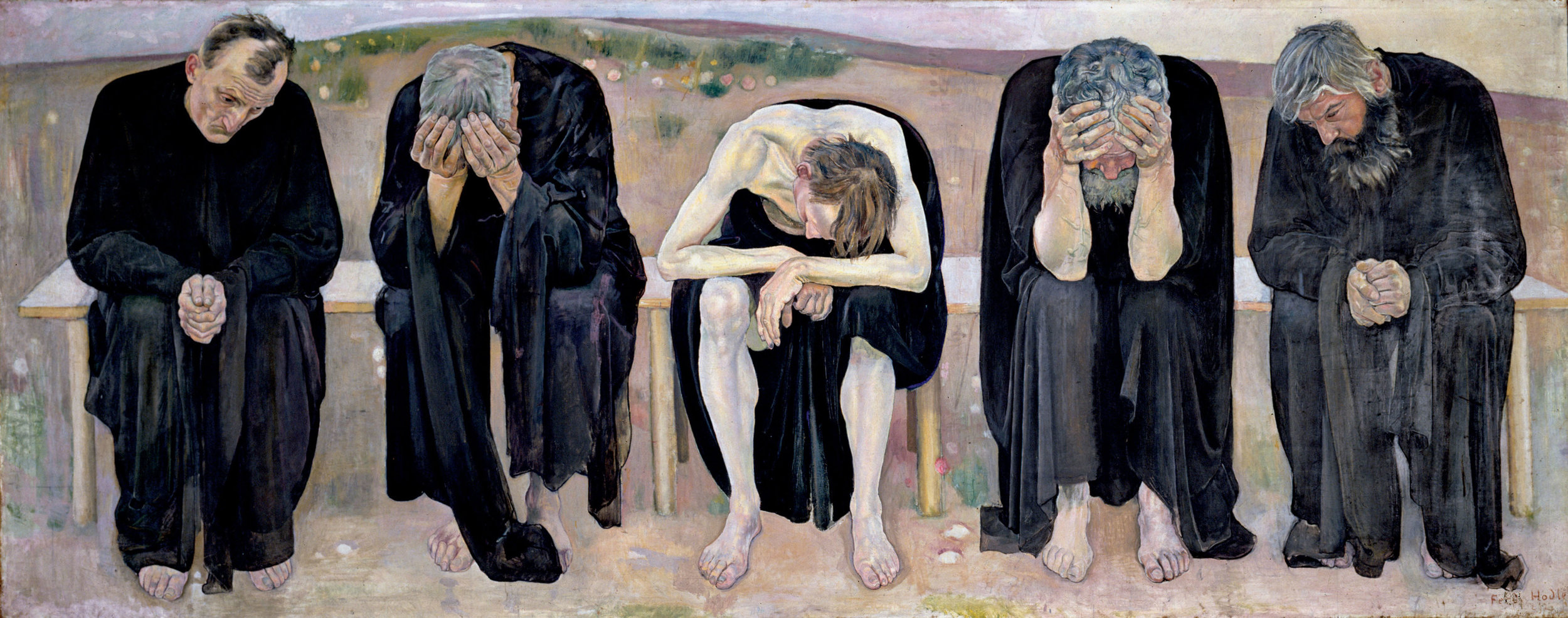 """Community gives us warmth, singleness gives us light.""   Carl Jung,  The Red Book   (Ferdinand Hodler's  Disappointed Souls )"