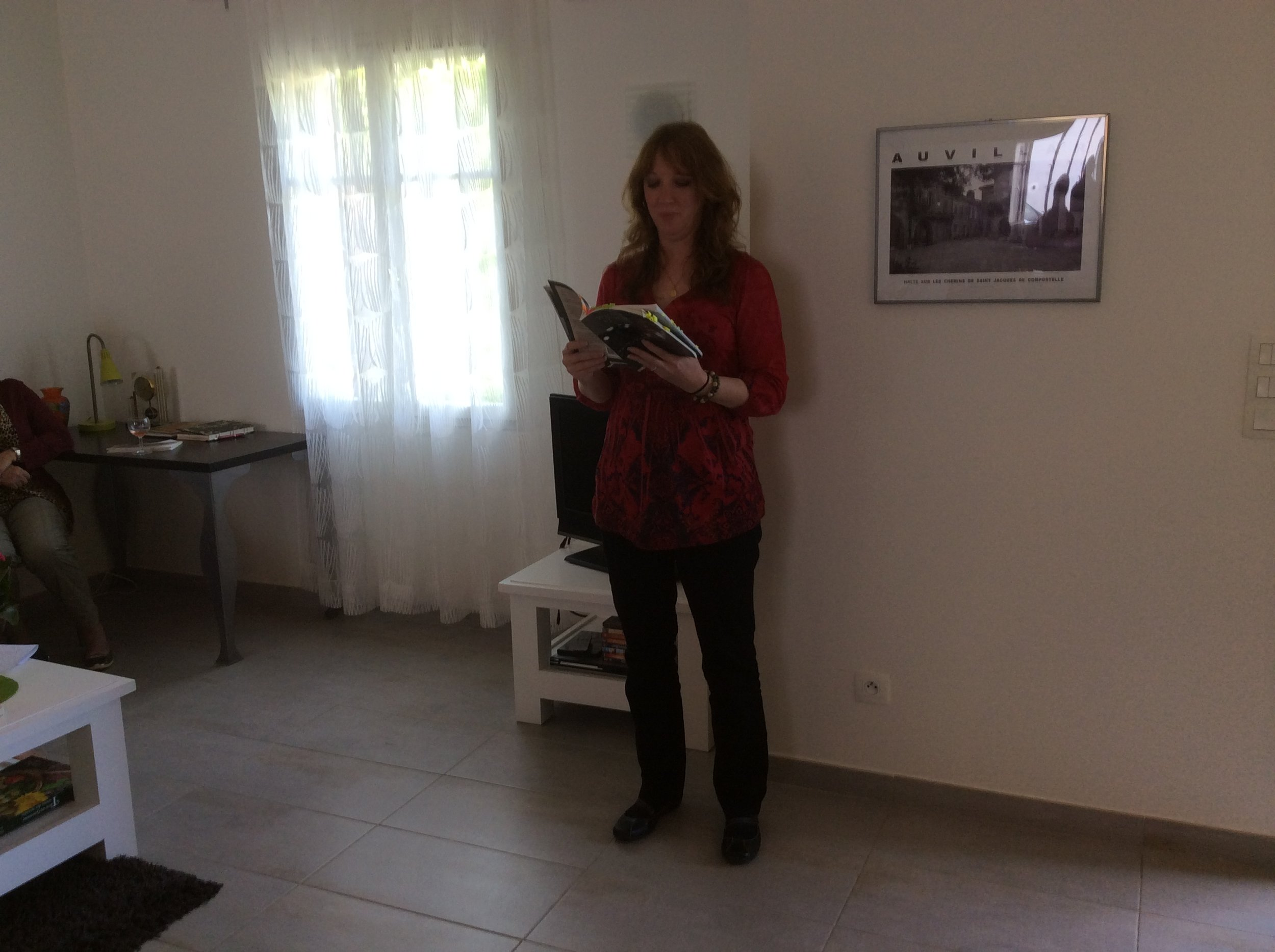 Reading in Auvillar, France
