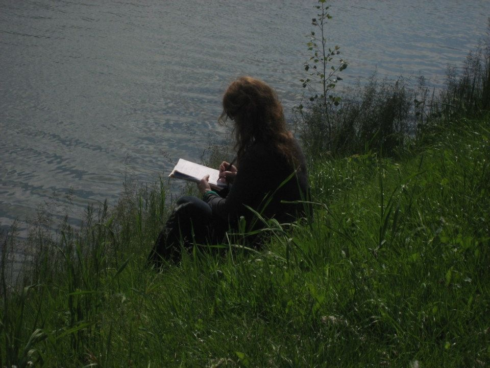 Writing beside the Garonne River