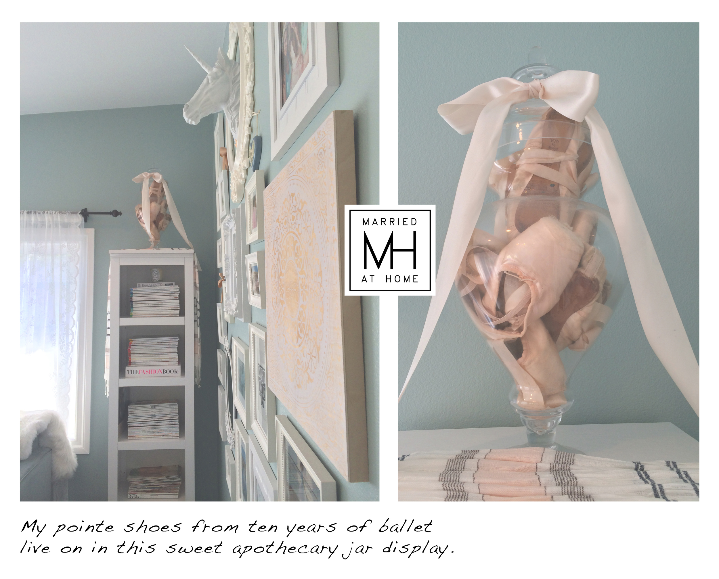 Decorating with pointe shoes | Married At Home