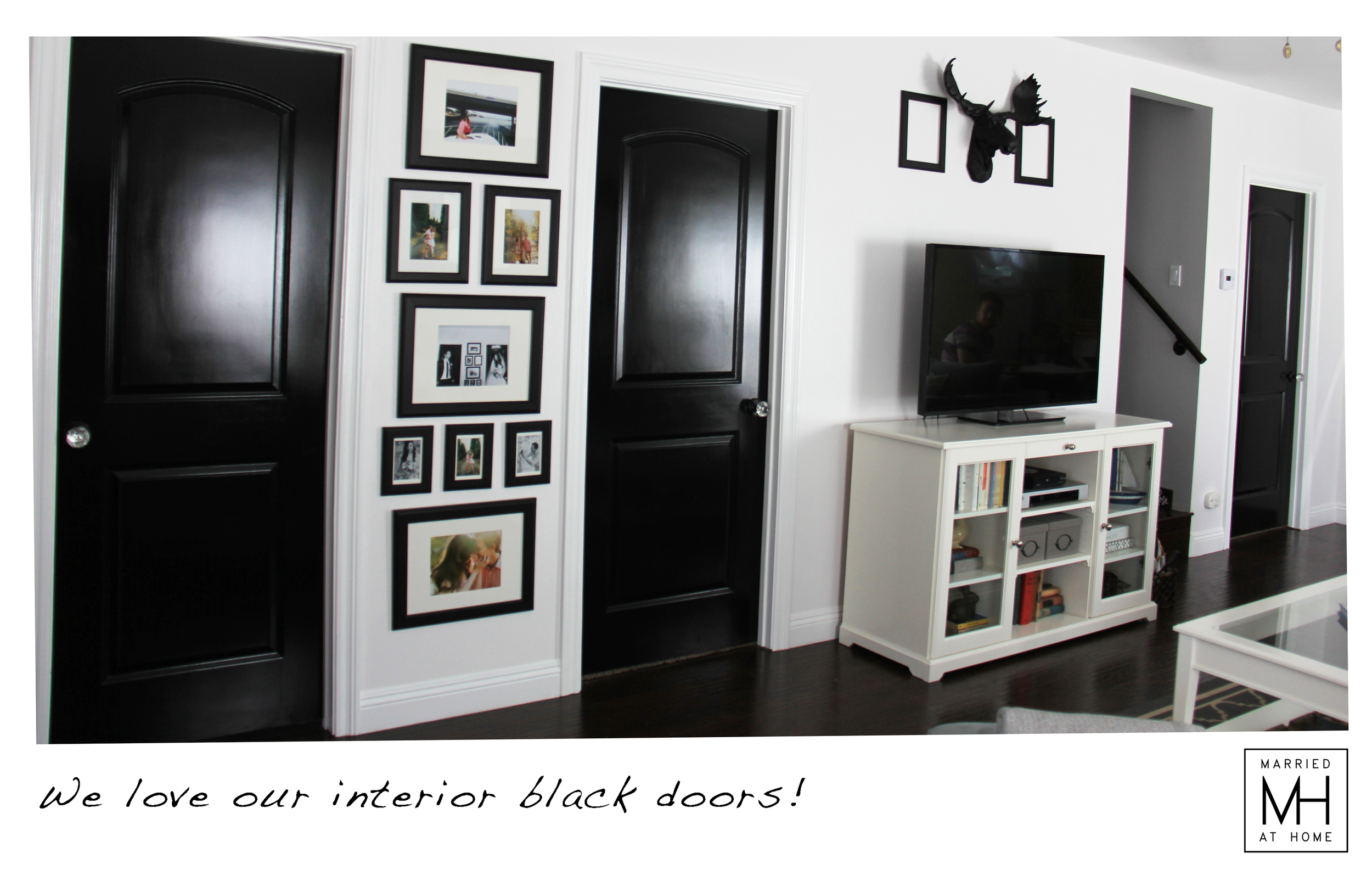 Interior Black Doors | Married At Home