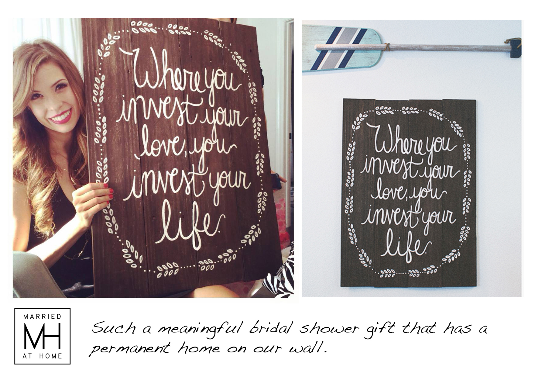 Wooden Wall Decor | Married At Home