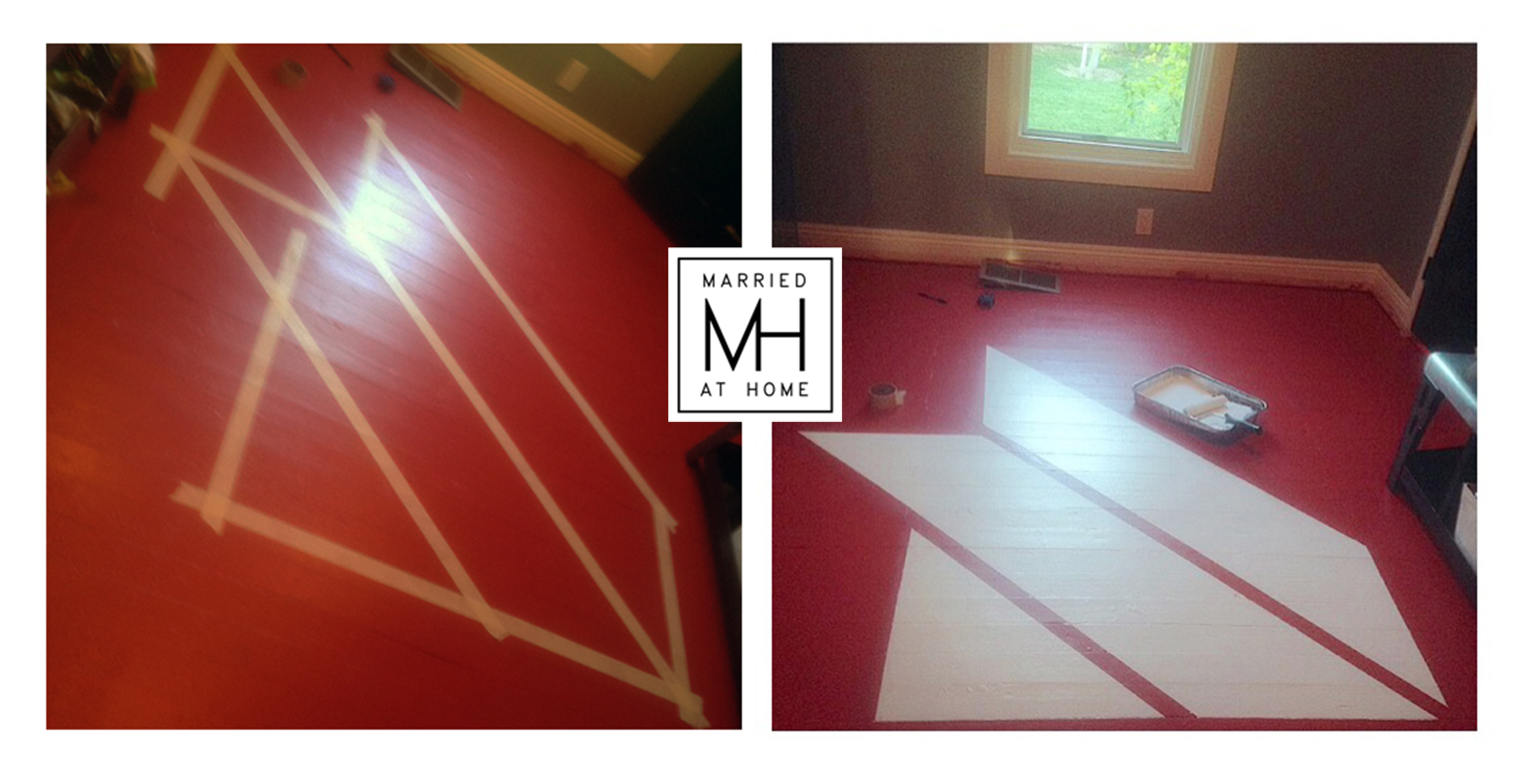 Painted Wood Floors | Married At Home
