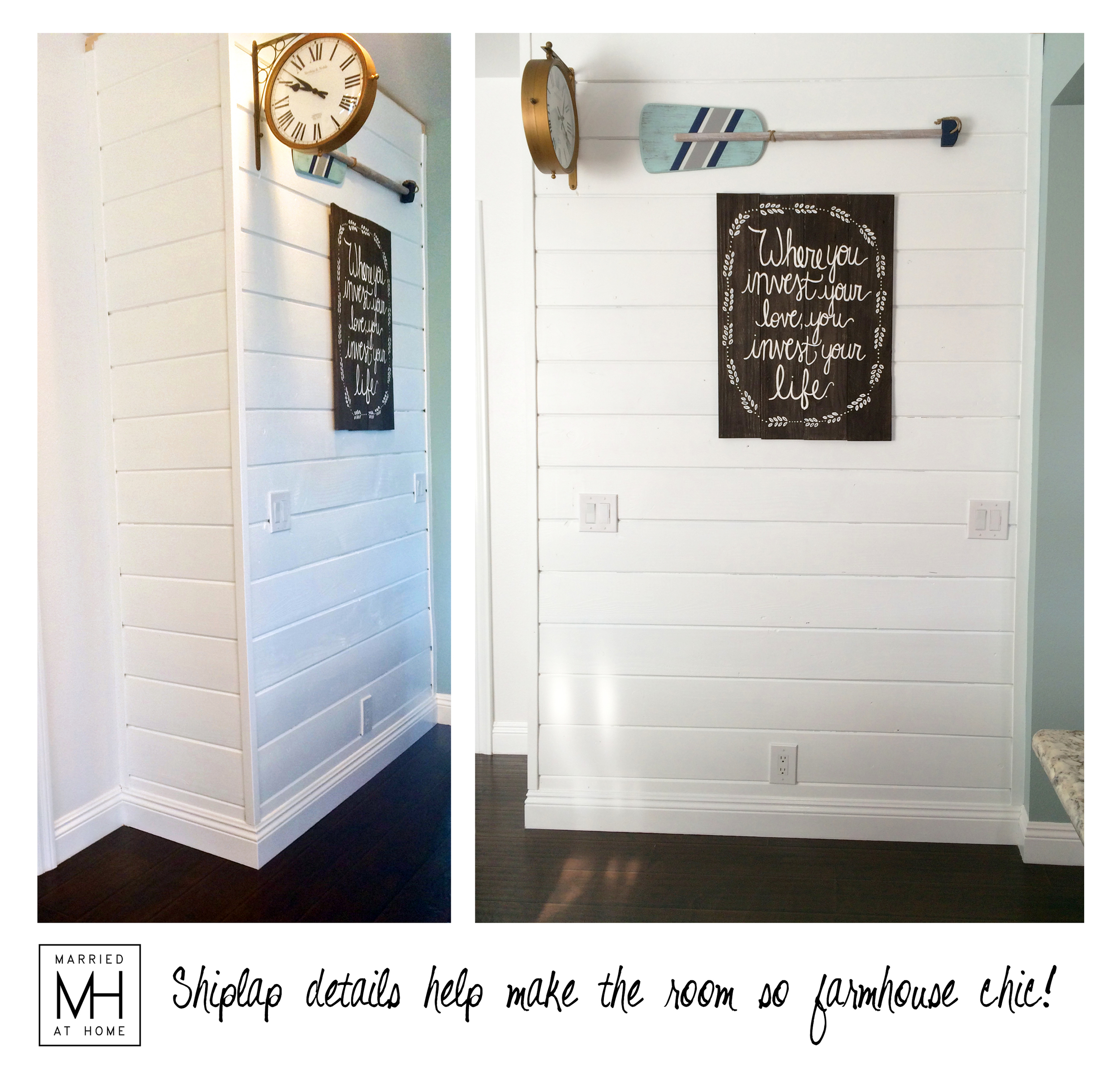 Shiplap Walls | Married At Home