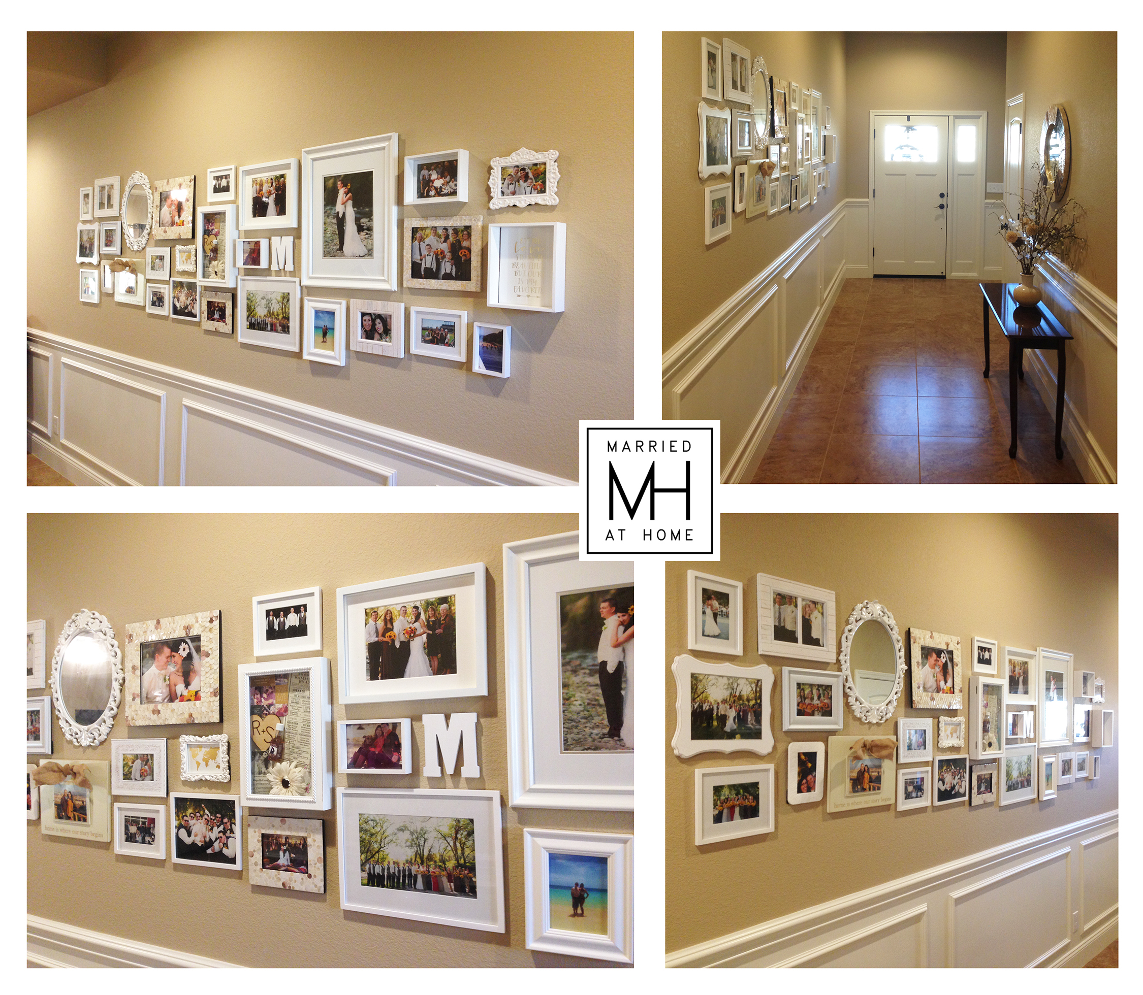 Sammie's Photo Wall | Married At Home